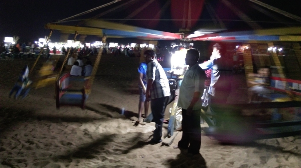 Carousel (merry-go-around) in Marina Beach, Chennai