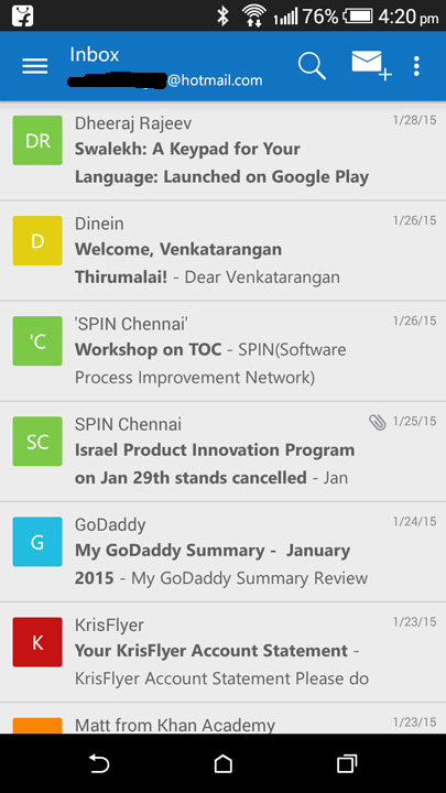 Microsoft Outlook app for Android