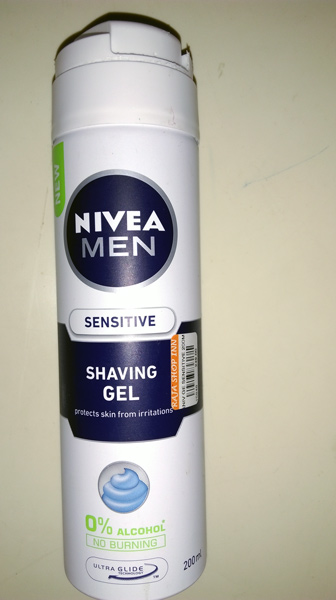 Nivea Men Shaving Gel with a well designed can and easy to use button