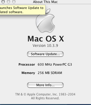 About iMac  - 256MB RAM, 600Mhz Power PC G3