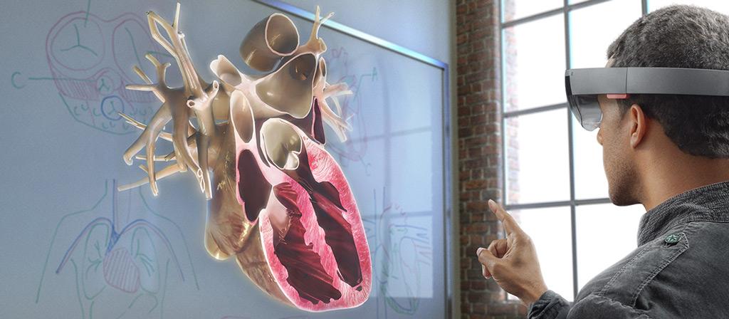 Microsoft Hololens showing Human Heart