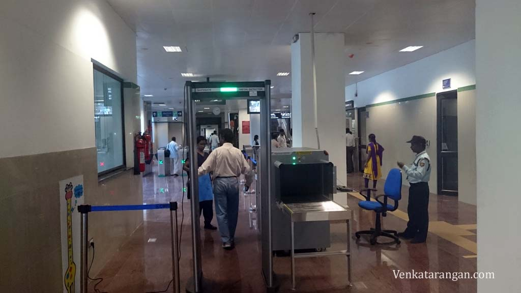 Airports style check in every entry point - Chennai Metro. Not sure how it can handle crowd?