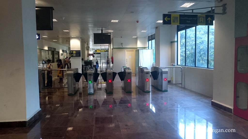Chennai Metro ticket gates