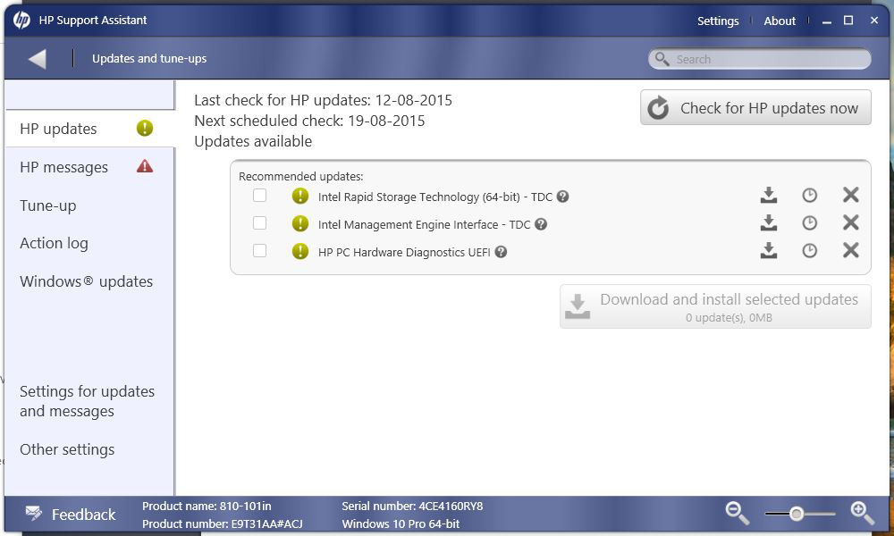 HP ENVY Phoenix Desktop Update for Windows 10