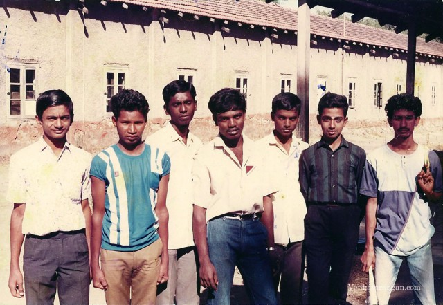 Taken during the NCC Camp I went in 1989. I am the first from left, Mahesh is second from Right.