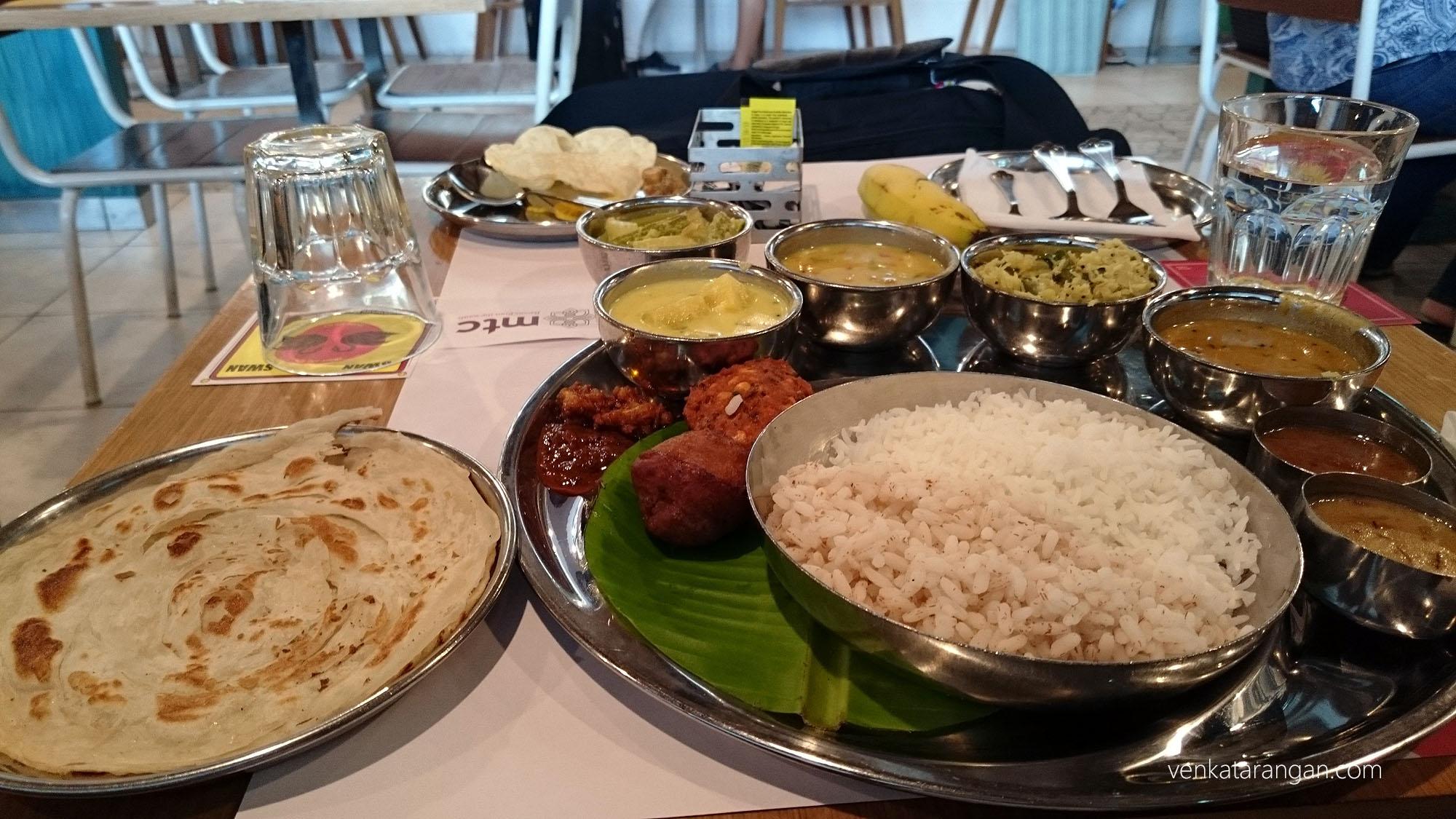 Onam Sadya in Bengaluru Airport MTC Restaurant