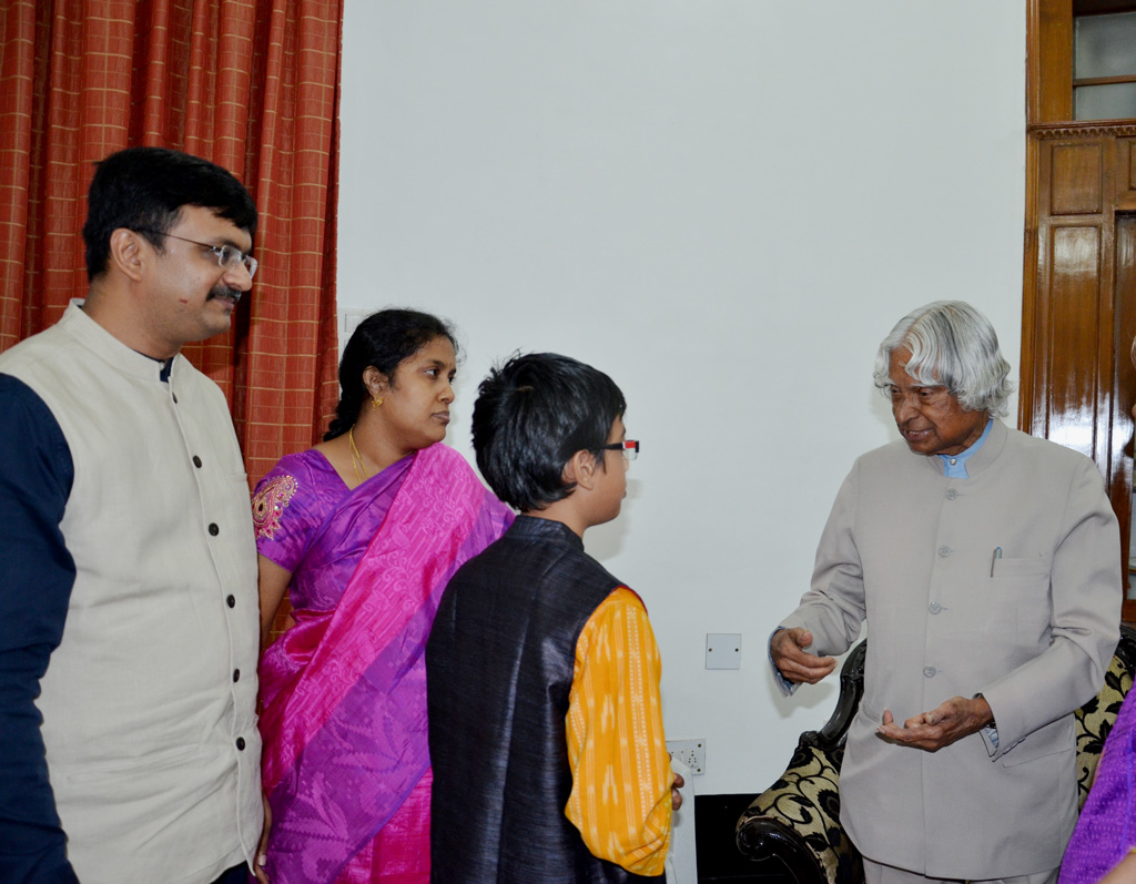 April 2015, with my family meeting Dr.Kalam in Chennai Raj Bhavan Kaveri suite
