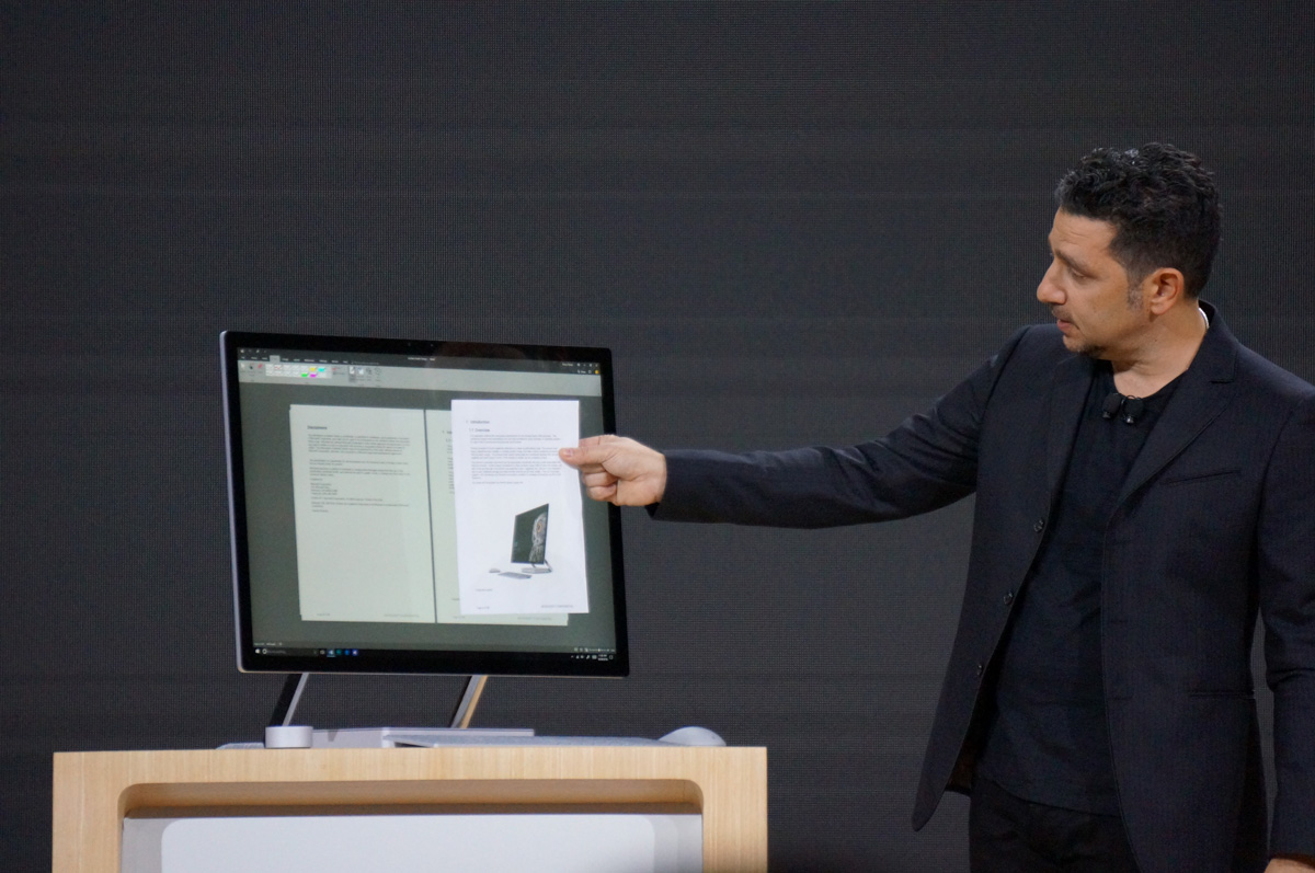 Panos Panay launching Surface Studio