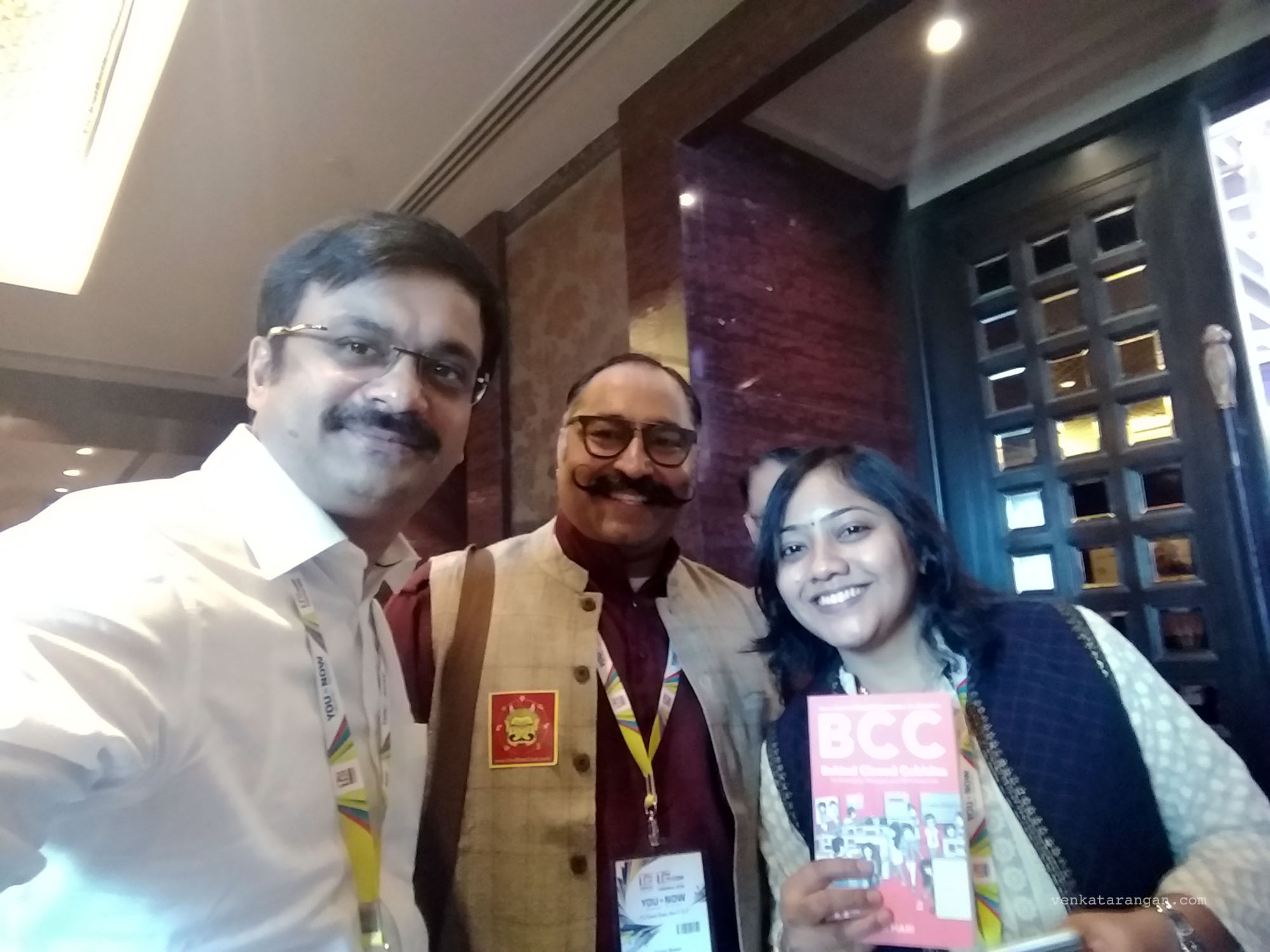 (From left - Venkatarangan, Pravin Sekar & Viji Hari - Author of BCC)