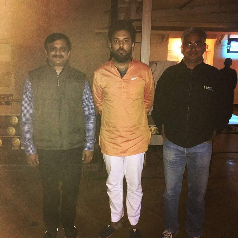 From left-Venkatarangan, Prince Prince Mr.Lakshya Raj Singh Mewar, Gaurav Mantri