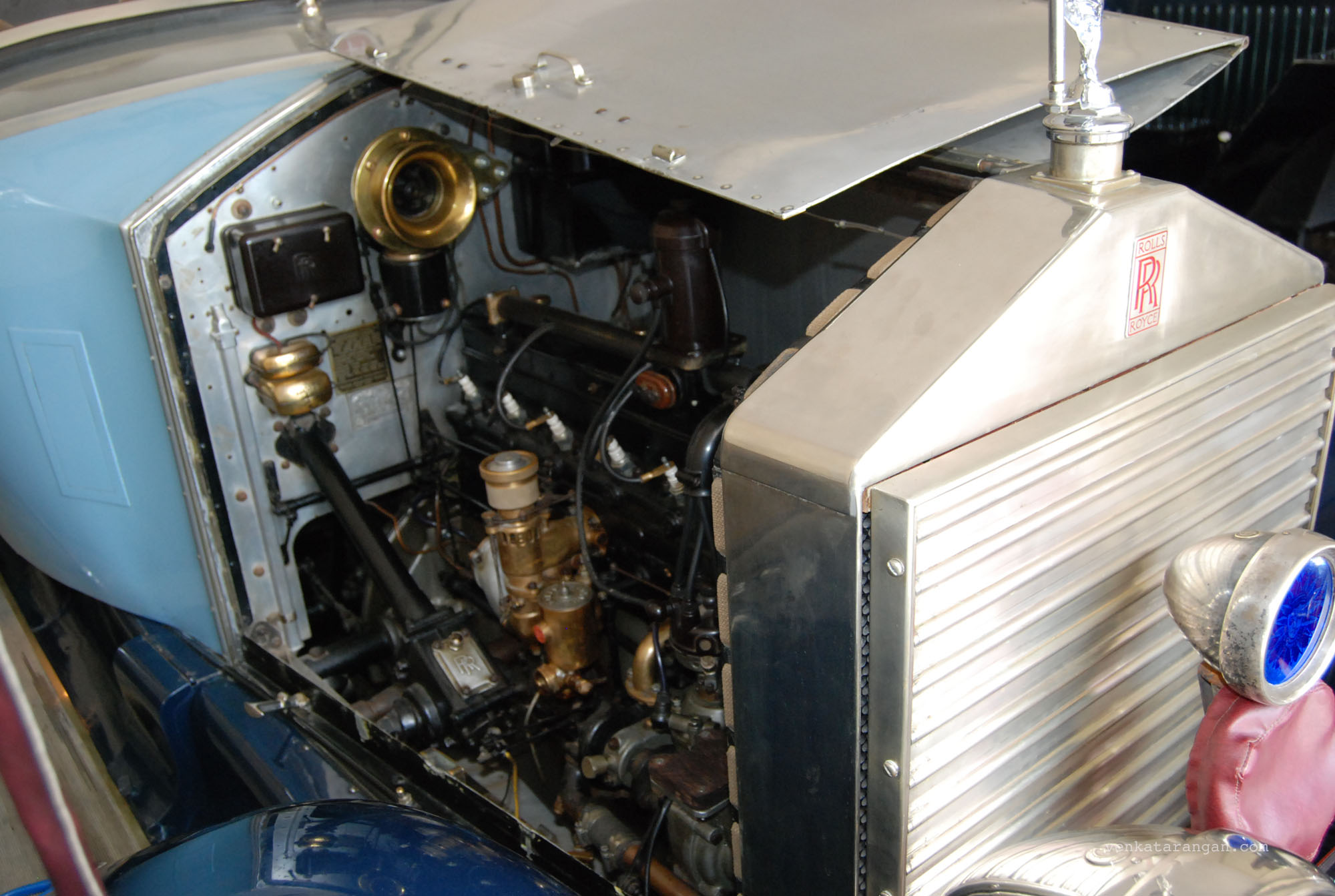 Rolls Royce engine in view at the Vintage Car Museum Udaipur
