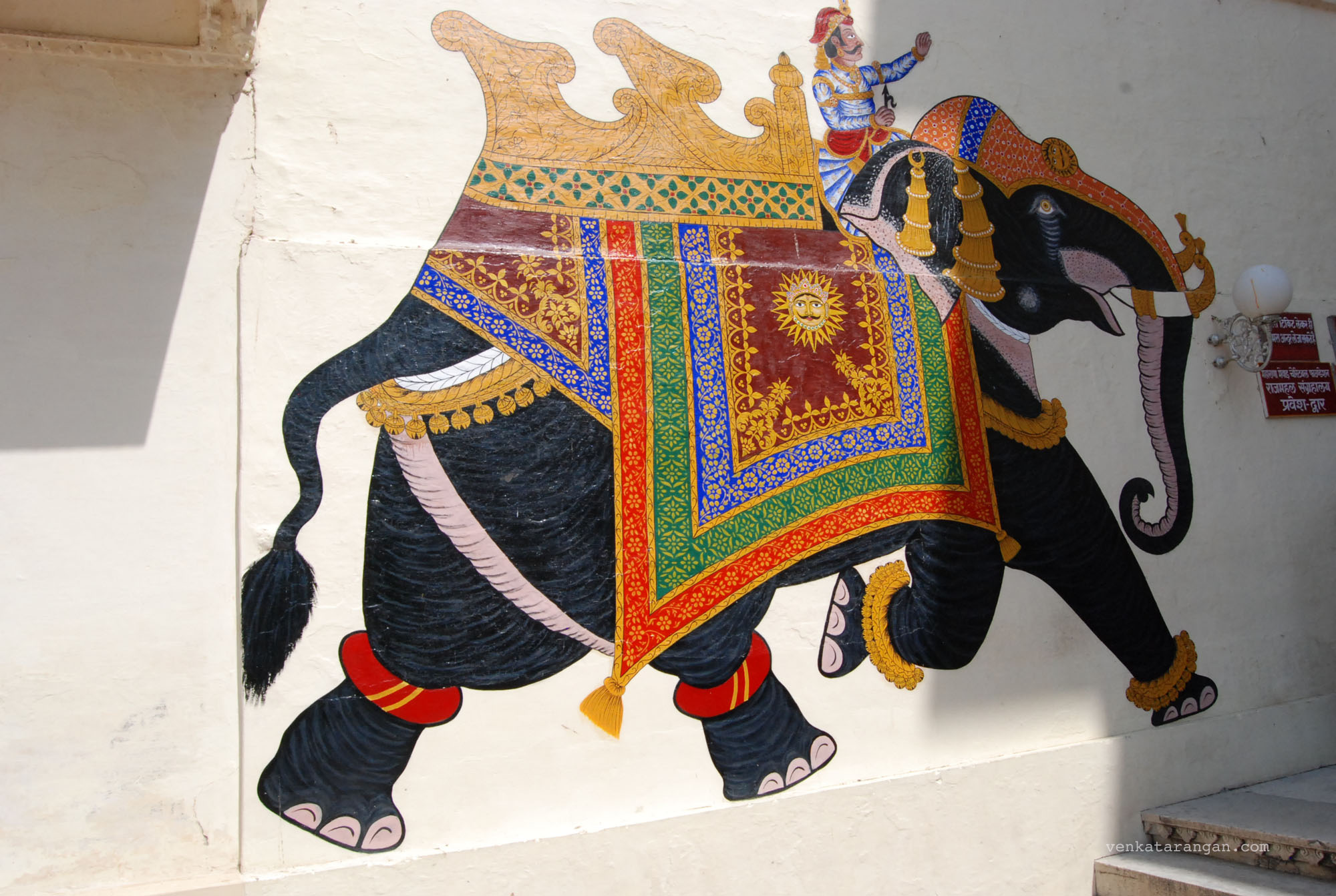Elephant painting in City palace