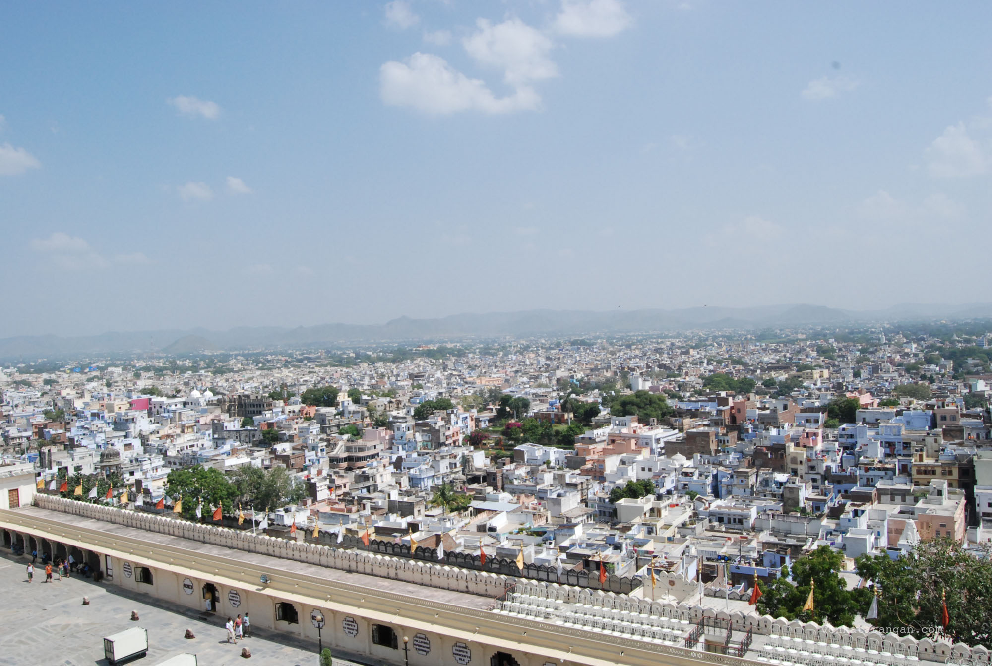 View of the city from Udaipur City Palace