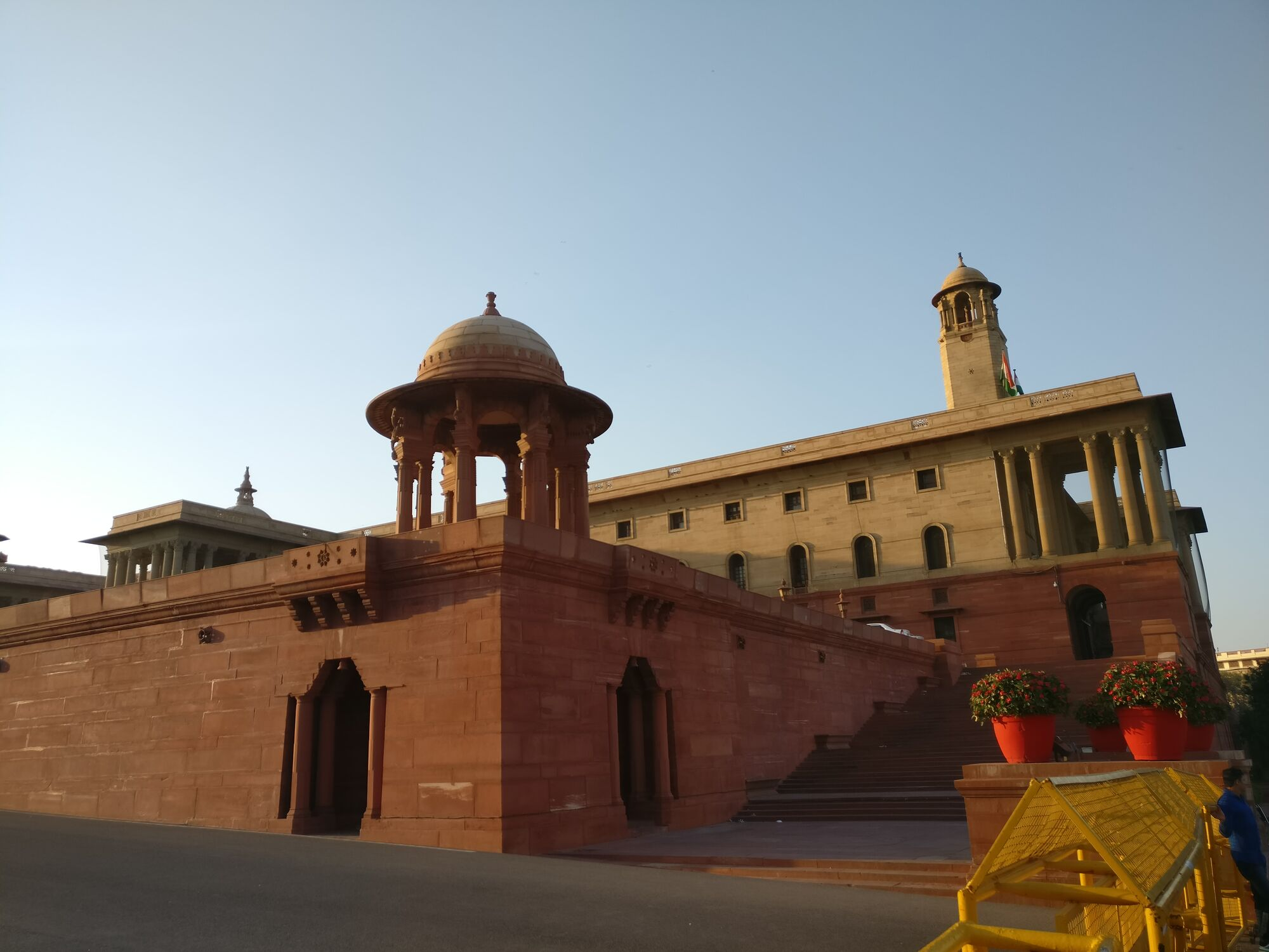 Seen here on the left is the North Block which houses the Ministry of Finance & the Home Ministry