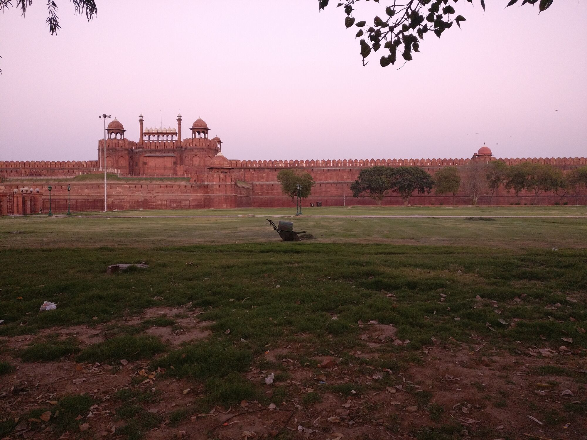 Red Fort is named for its massive enclosing walls of red sandstone.