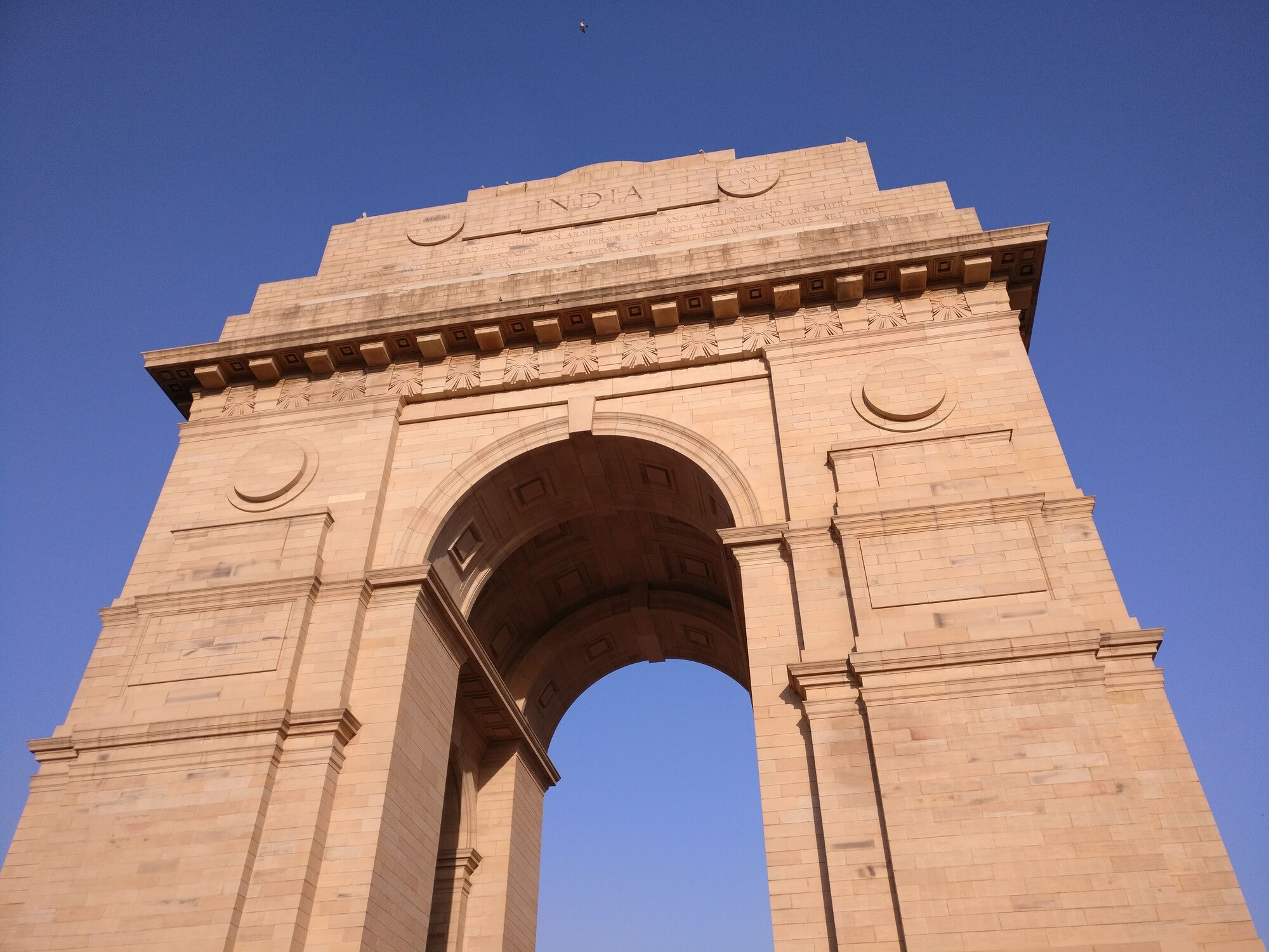 India Gate, is a war memorial located astride the Rajpath, New Delhi