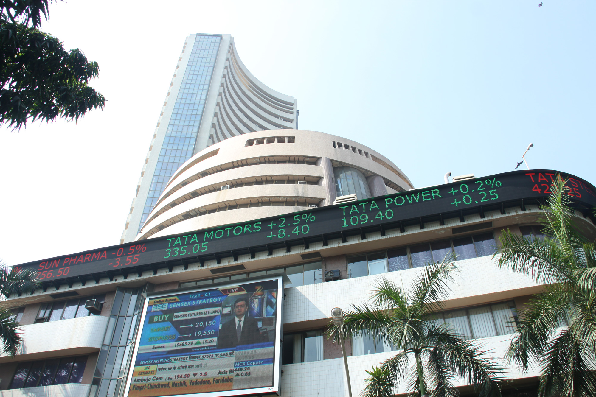 BSE Building at Dalal Street, India, Sensex, NIFTY
