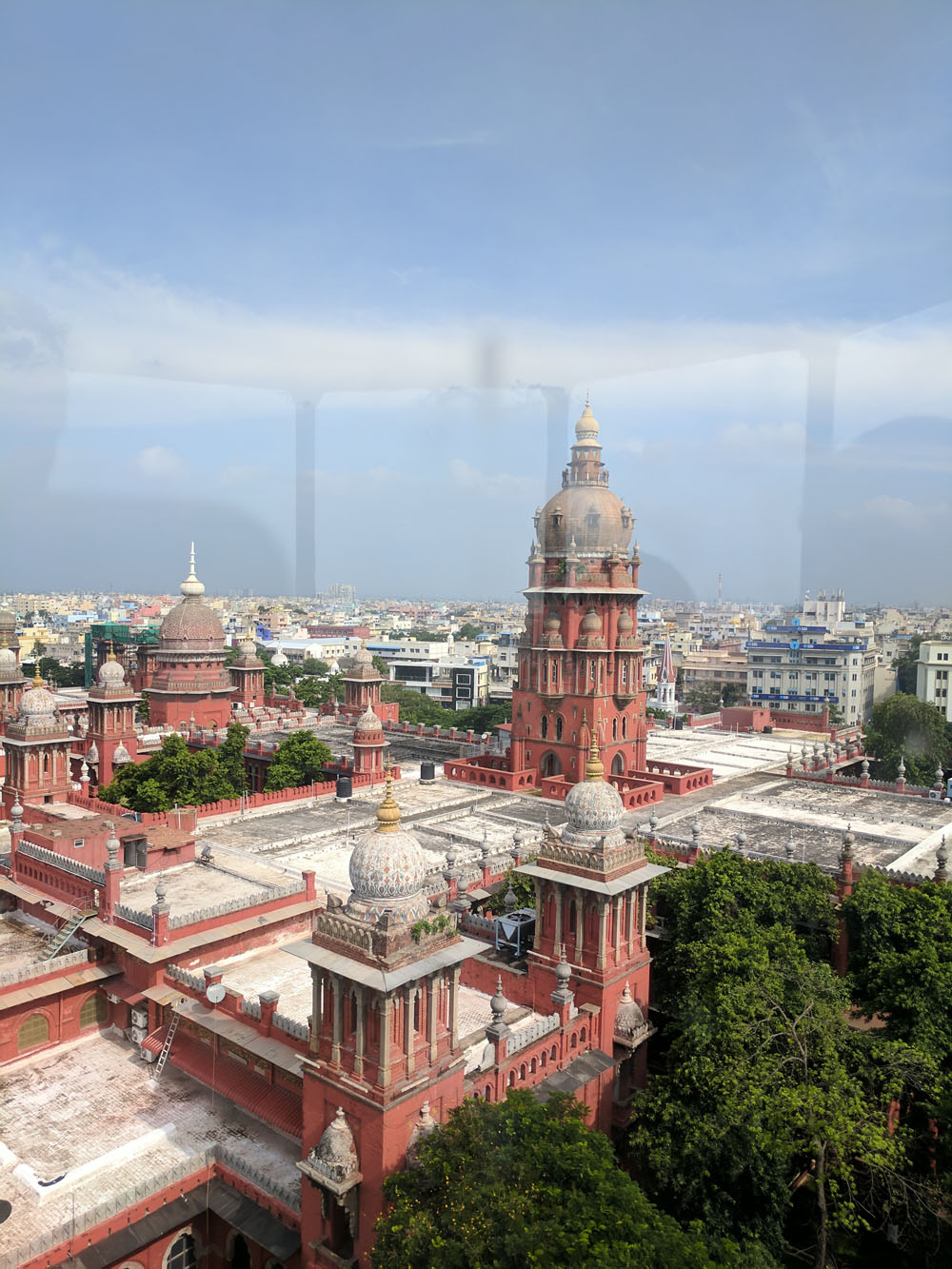 View of the Madras High Court building - from the top of the lighthouse