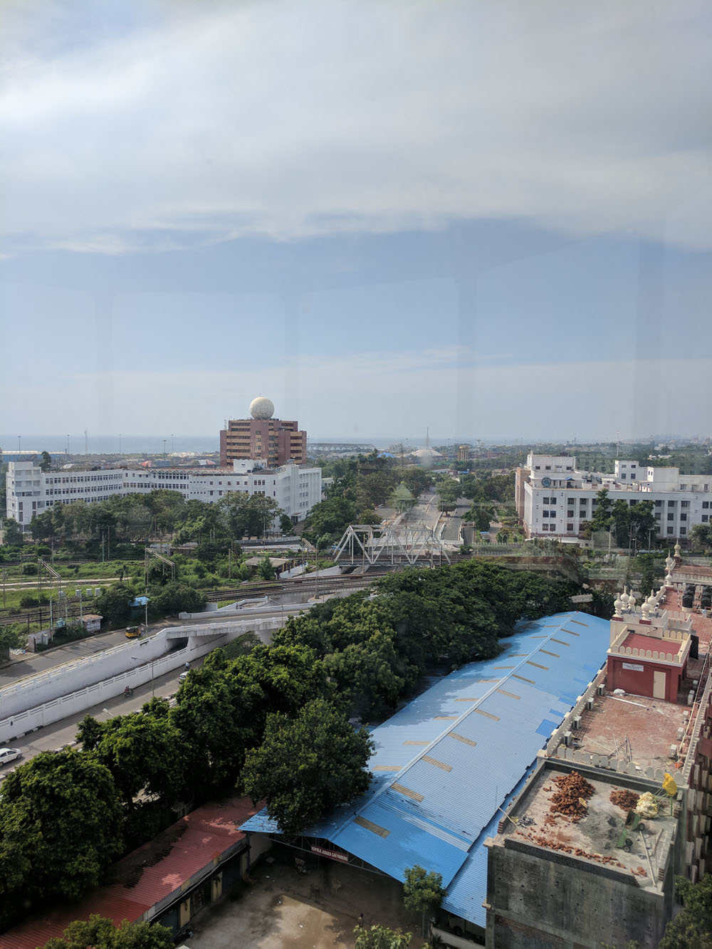 View of Reserve Bank of India, Chennai - from the top of the High Court light house