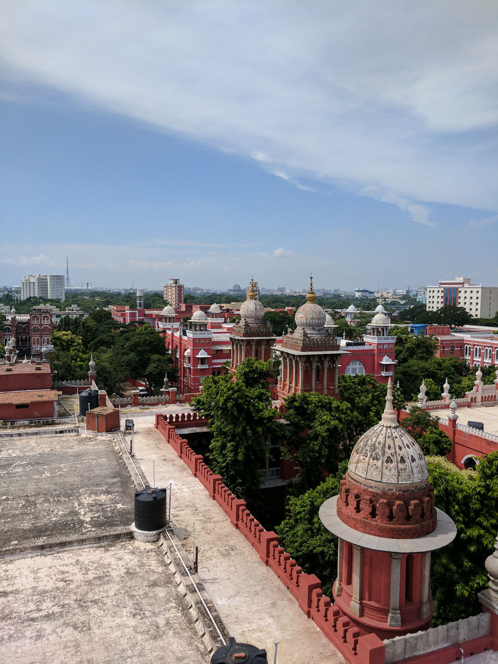 Aeriel view of the High Court of Madras