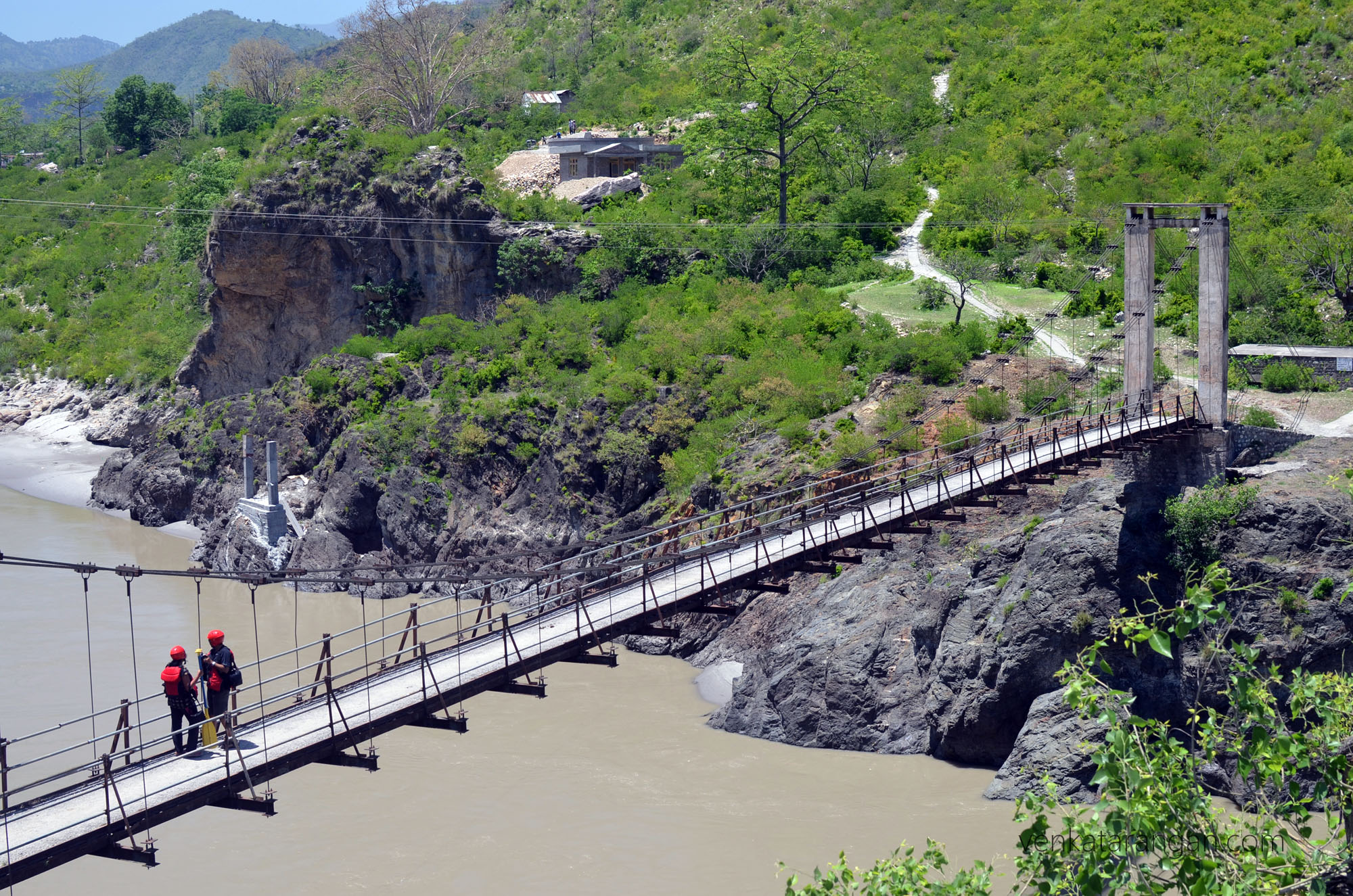 Bridge near Chaba Hydro Project over River Sutlej