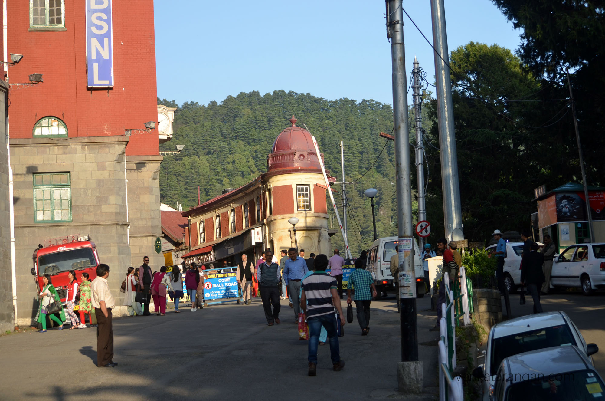 Core Mall Road, Shimla is a vehicle free zone