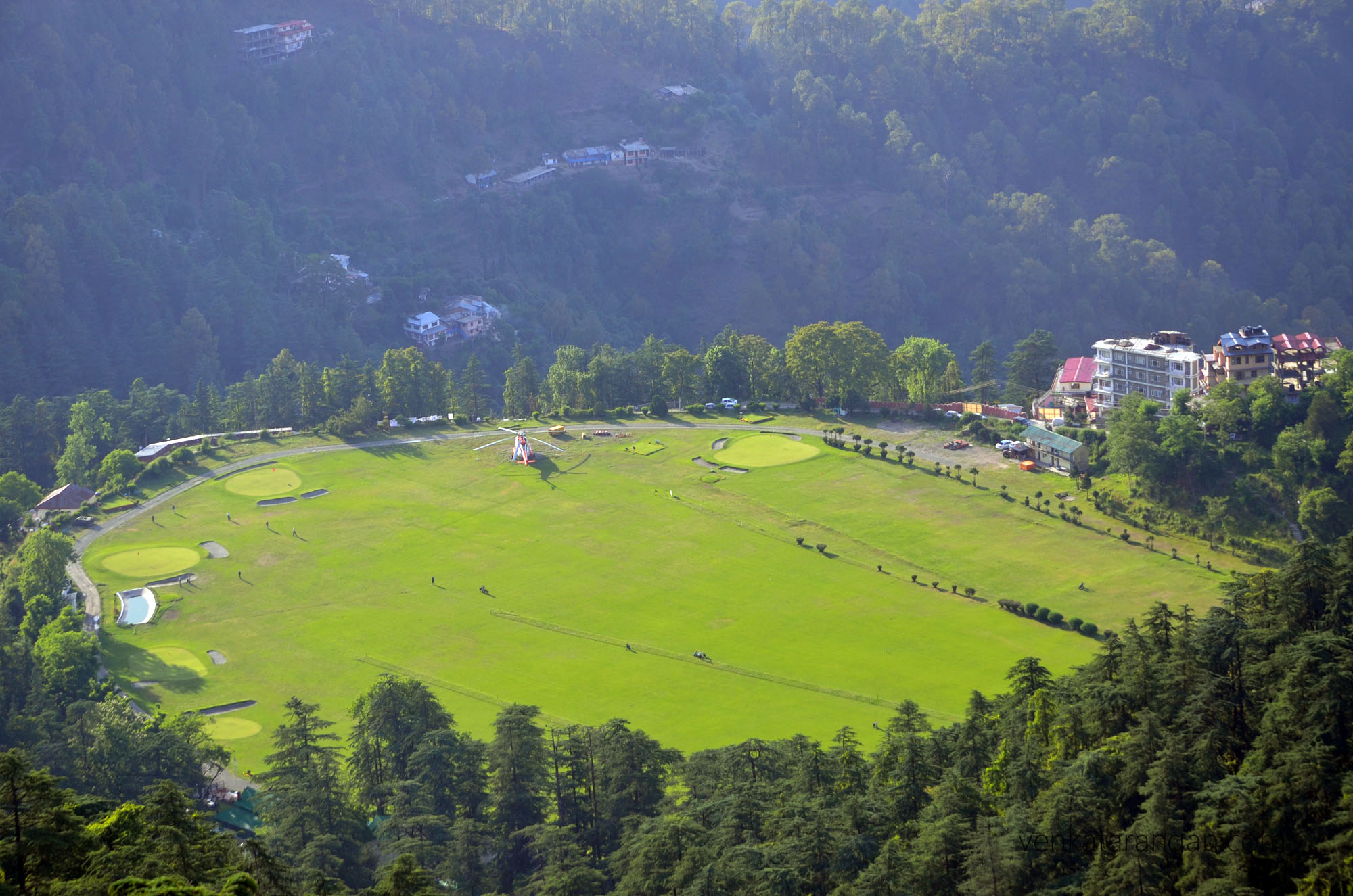 View of Annadale ground, belonging to Indian Army