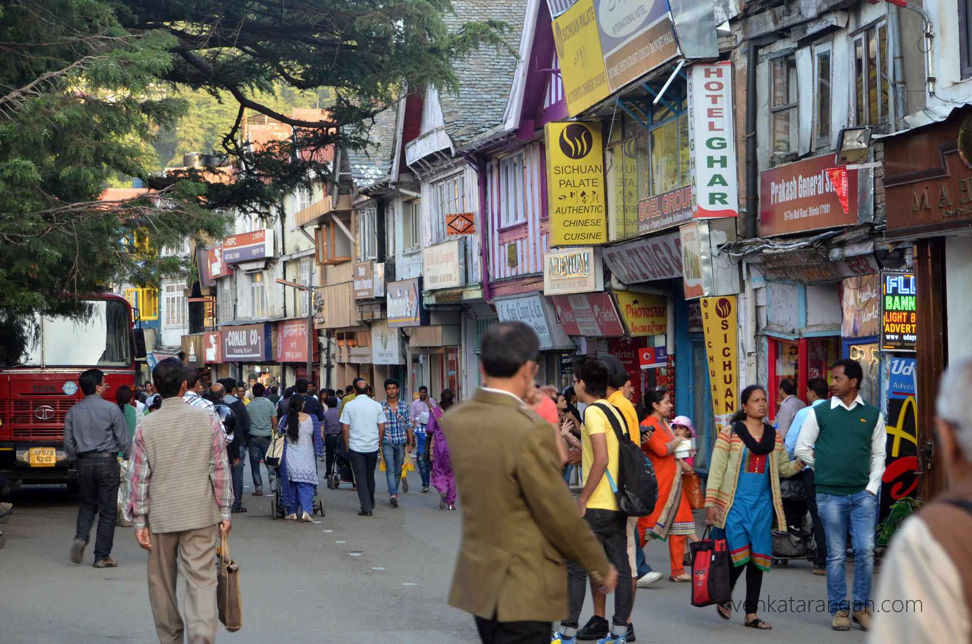 Shopping district - The Mall Road, Shimla