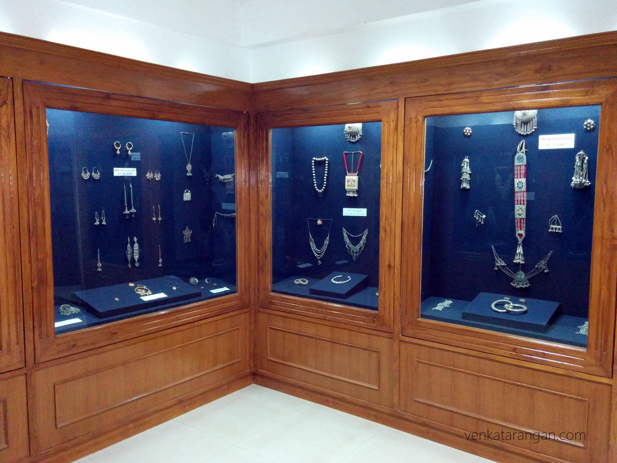 Traditional jewellery of Himachal state on display