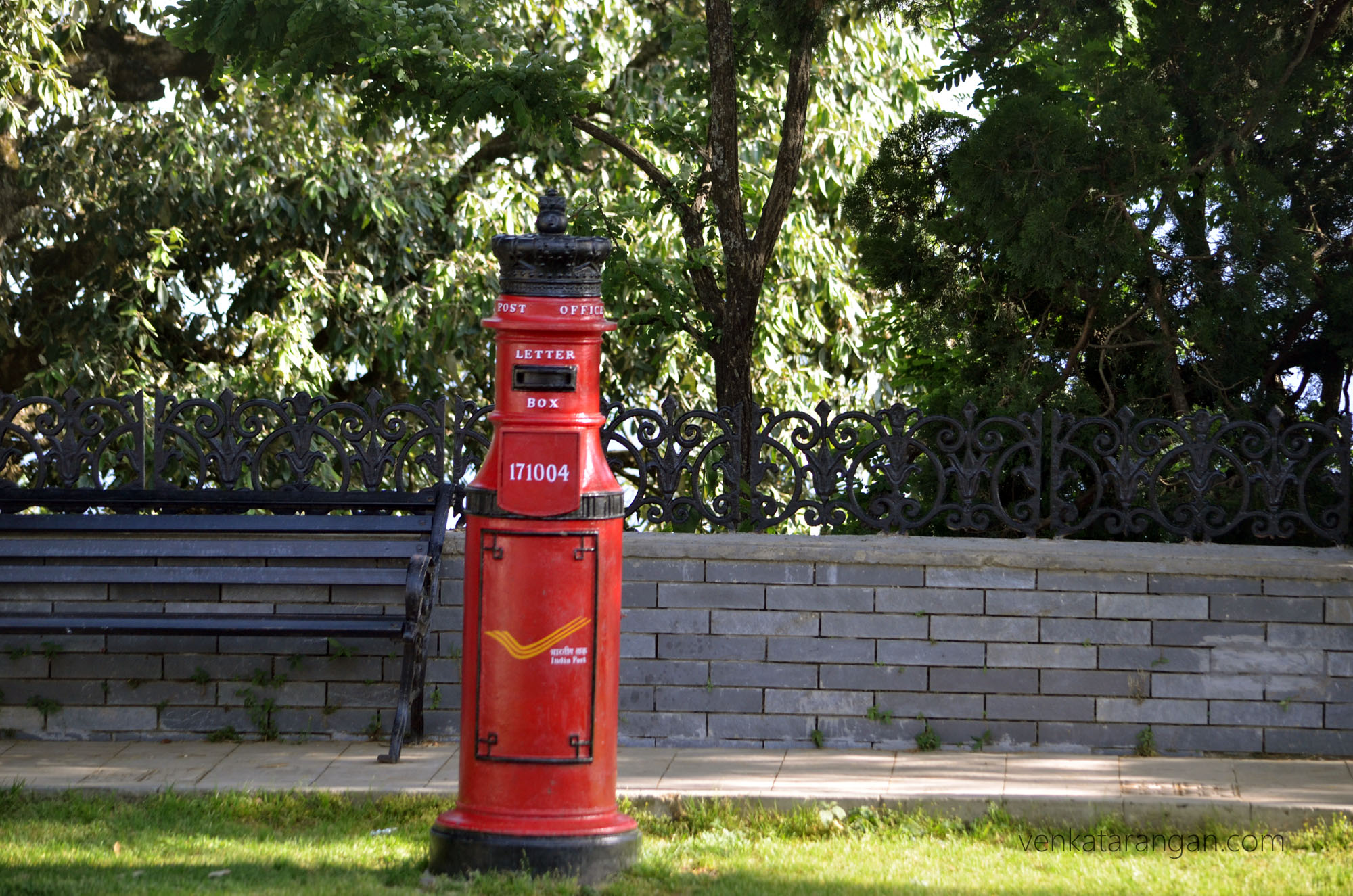 A colonial era Post Box, Viceroy lodge, Shimla