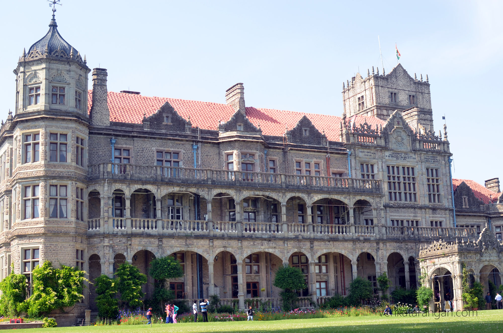 Front view of Viceregal Lodge, Shimla