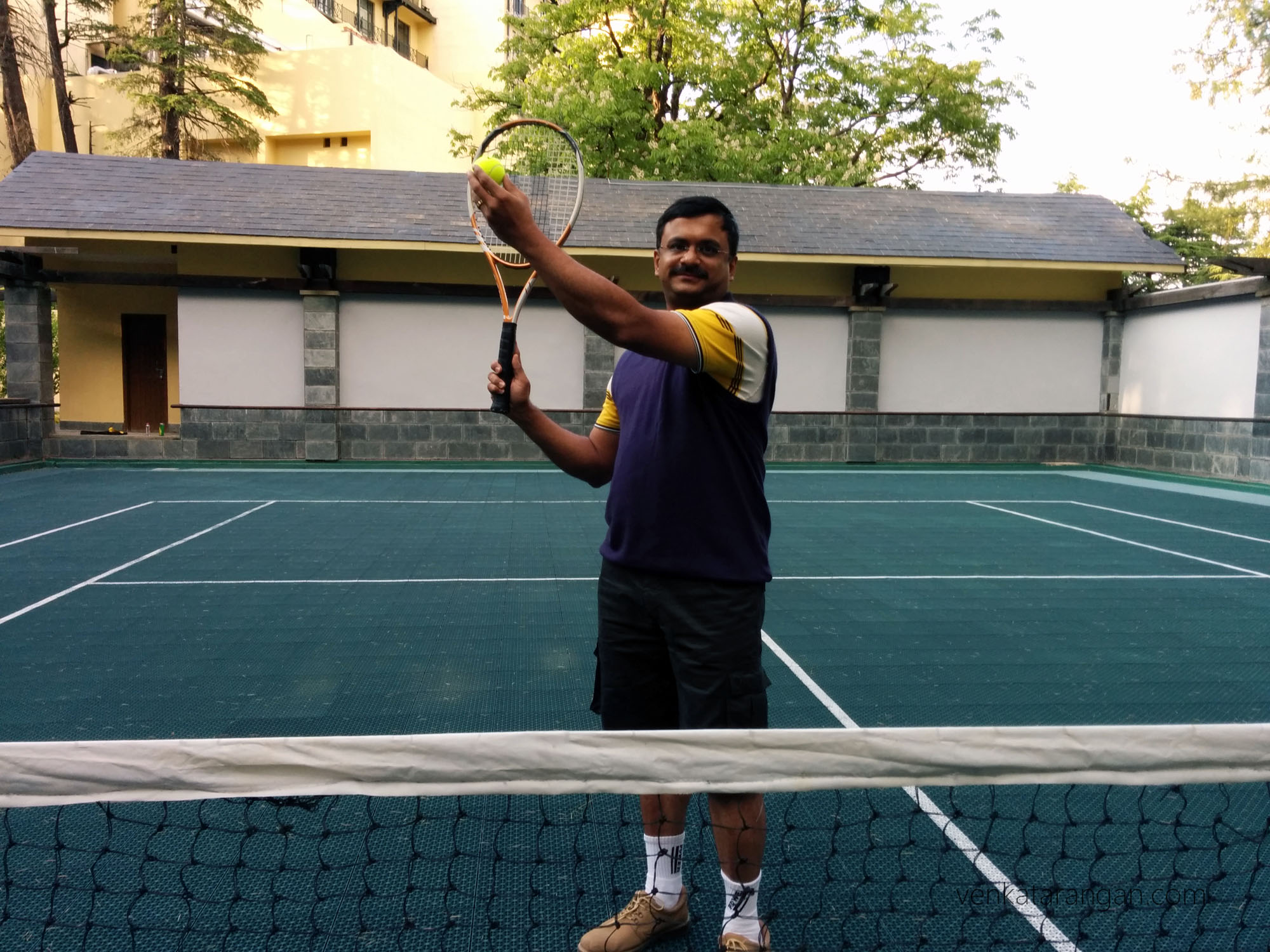 Tennis court in Wildflower Hall, Shimla