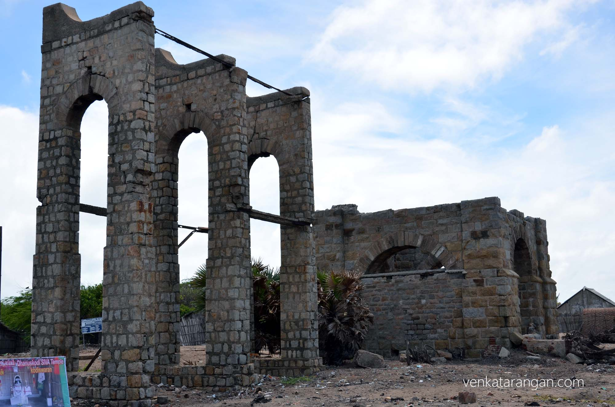What remains of the old railway station - Dhanushkodi