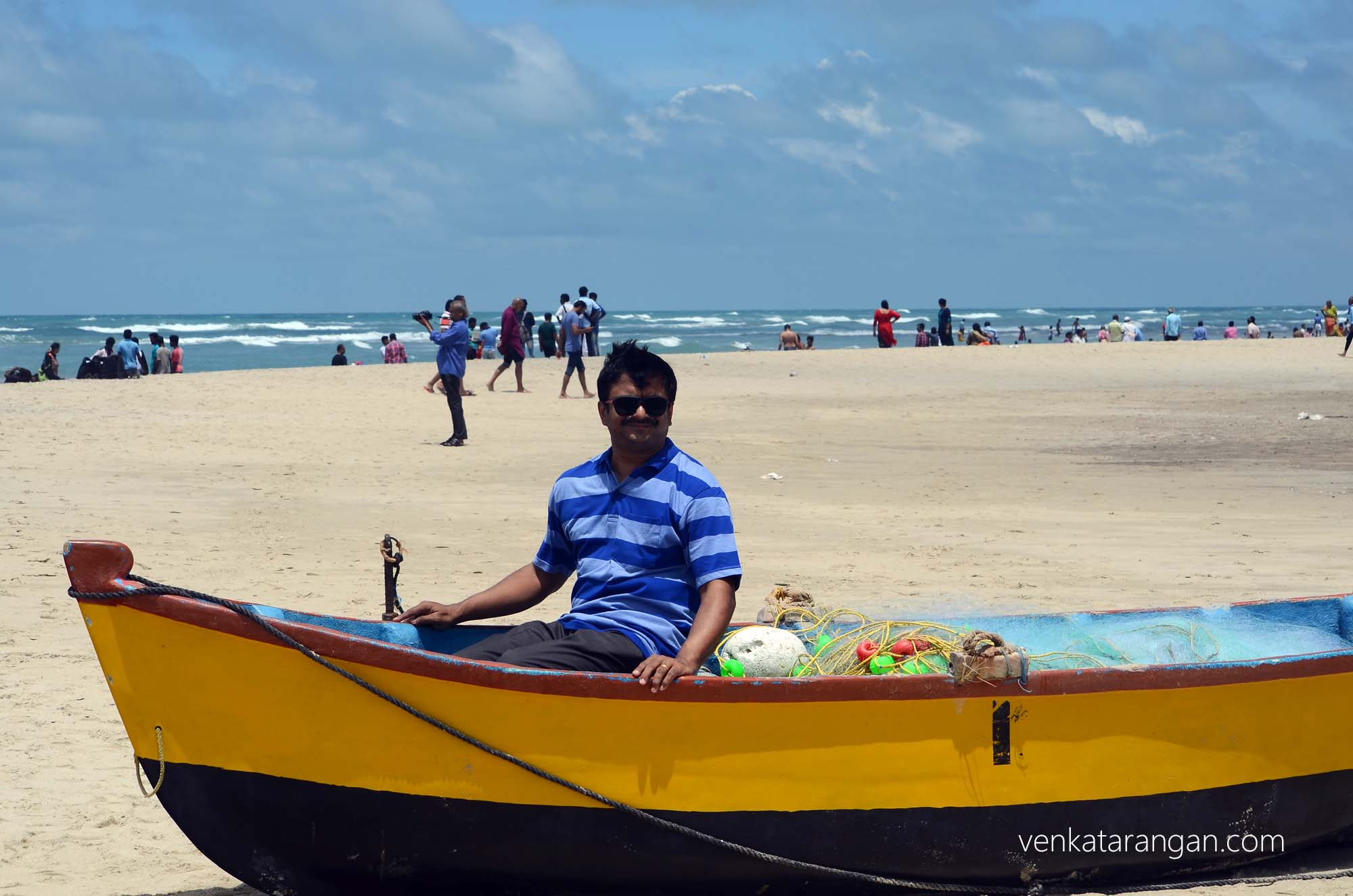 Venkatarangan on a boat to nowhere