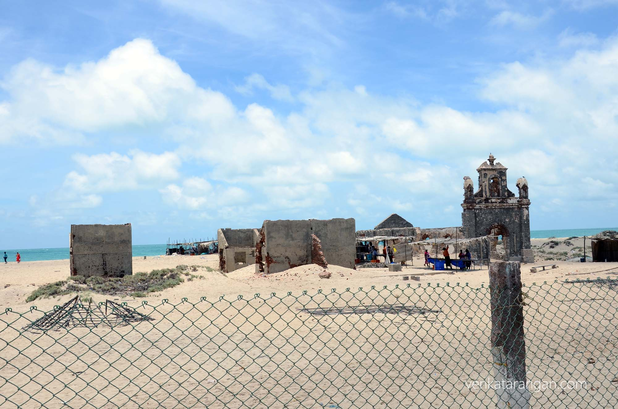 Ruins of the chapel - Dhanushkodi