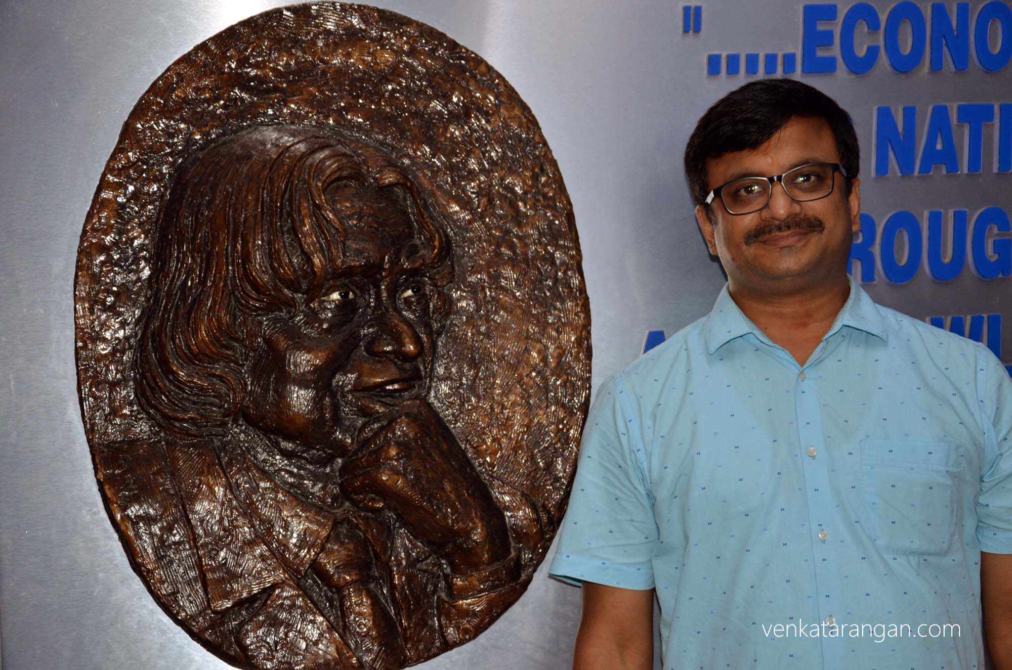 Museum at House of Kalam greets you with a portrait of Dr Kalam