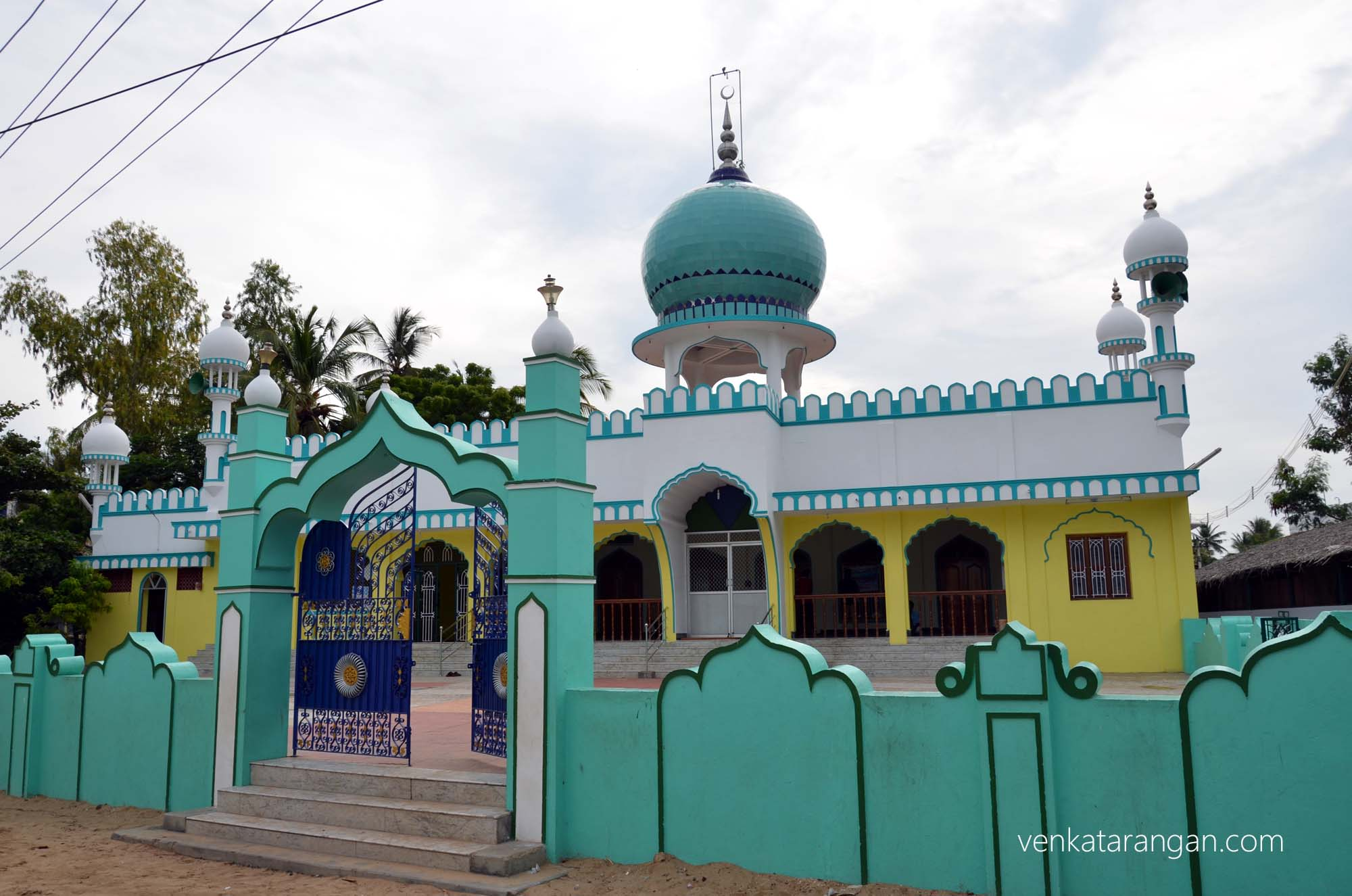 Newly reconstructed mosque near Dr Kalam's residence in Rameswaram
