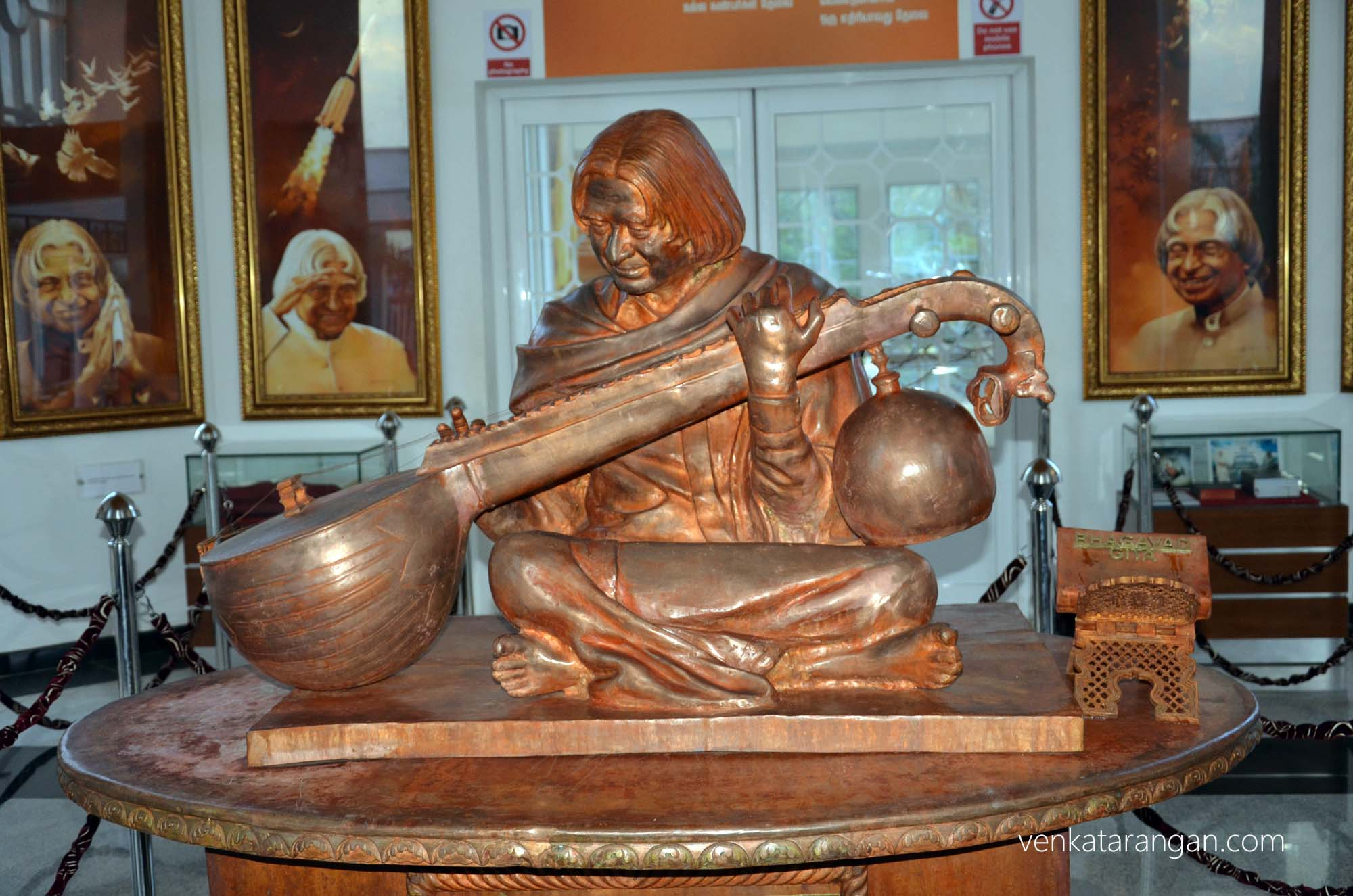 Dr Kalam loved to play the Veena, a classical string instrument