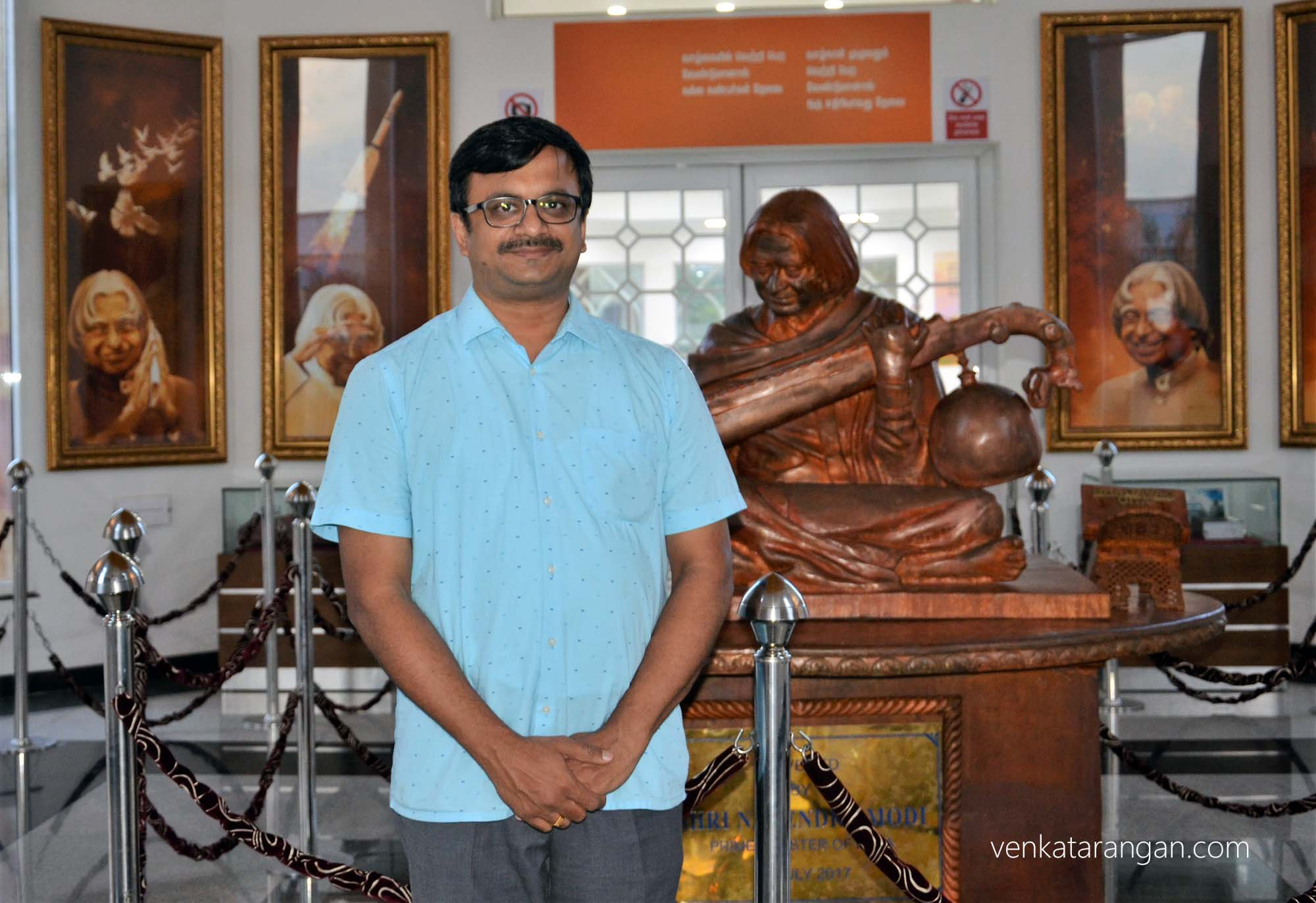 Venkatarangan at the Dr Kalam's memorial, Rameswaram