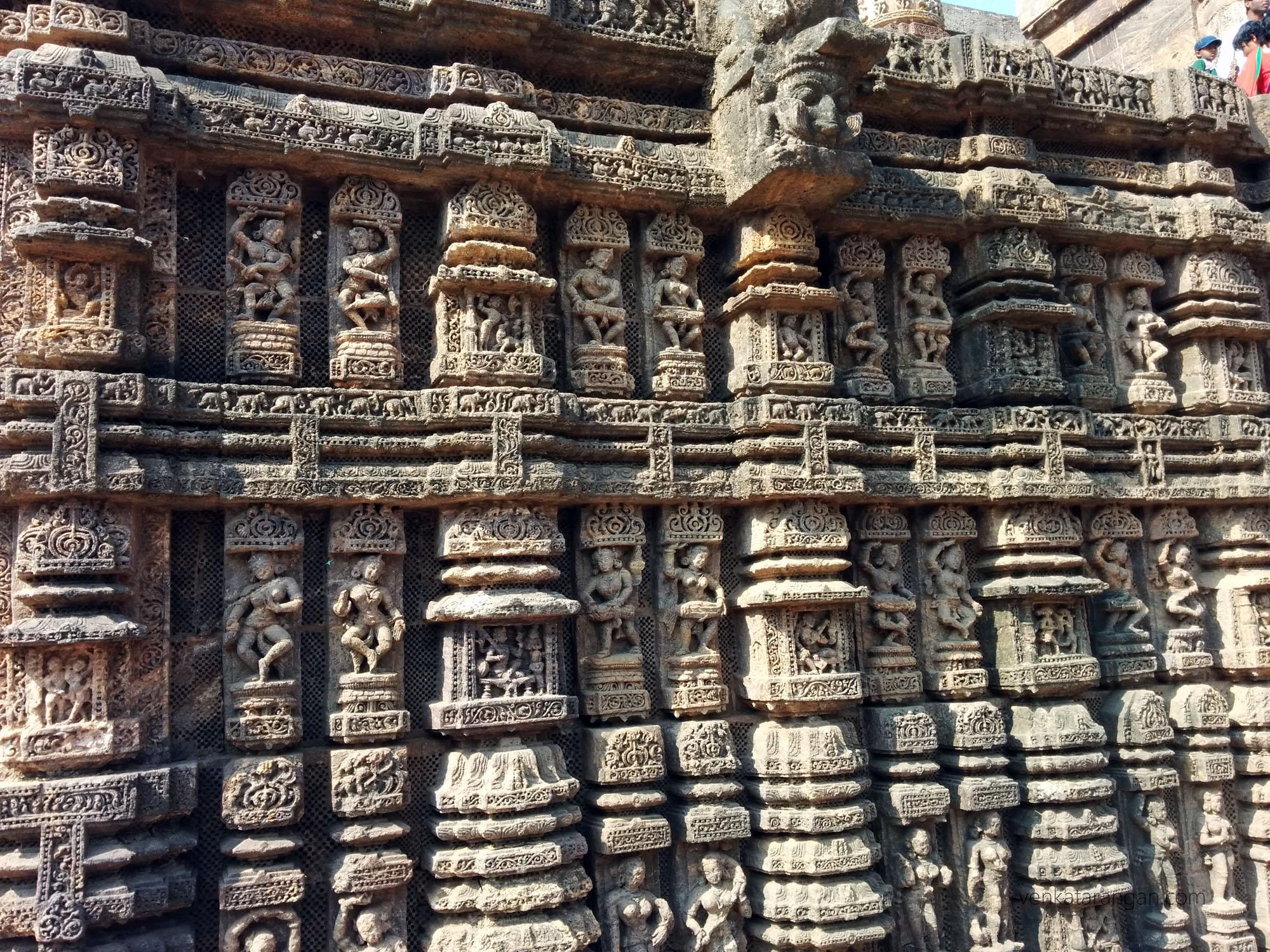 Konark Sun Temple - layers of carvings