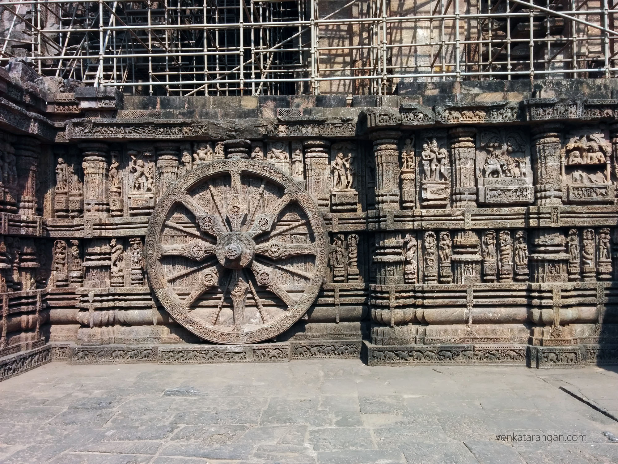 Konark Sun Temple - look at the number of layers of carvings