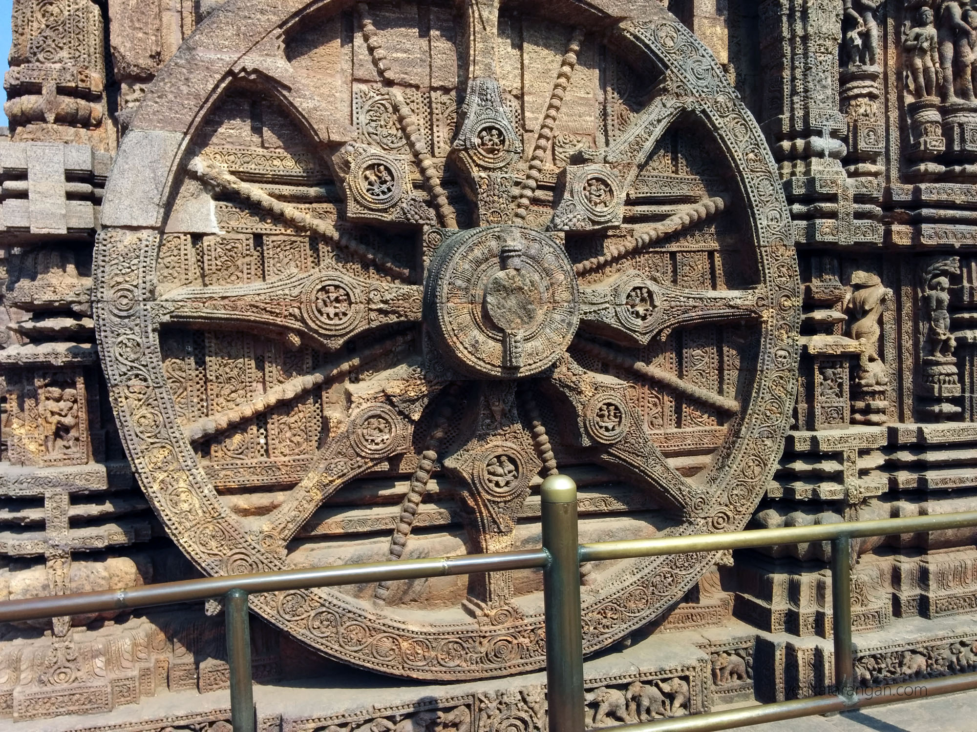 Konark Sun Temple - chariot wheel