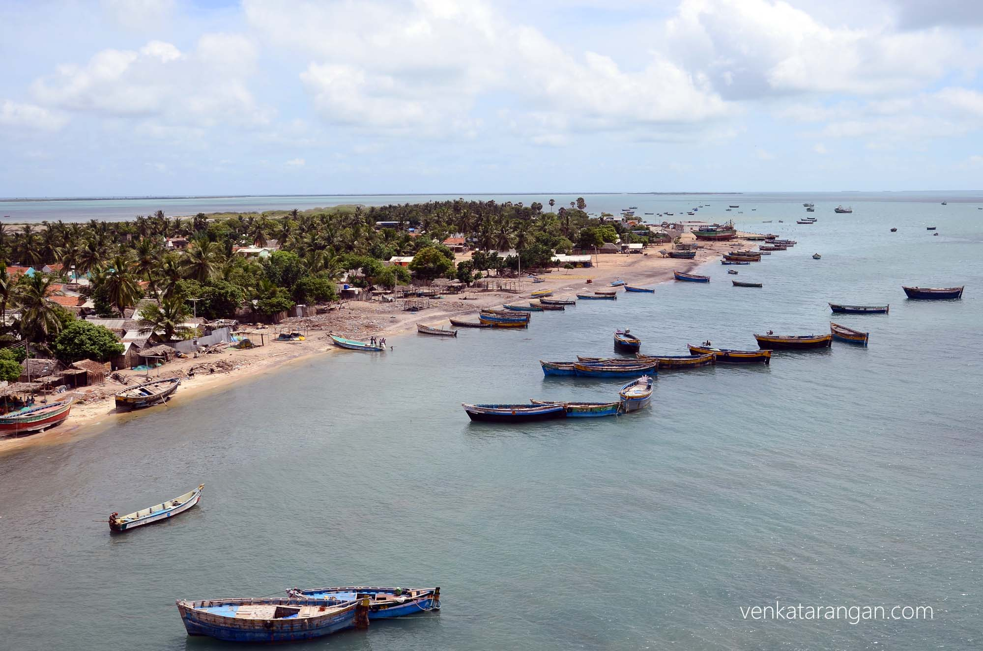 Fishing hamlets as seen from Pamban road bridge