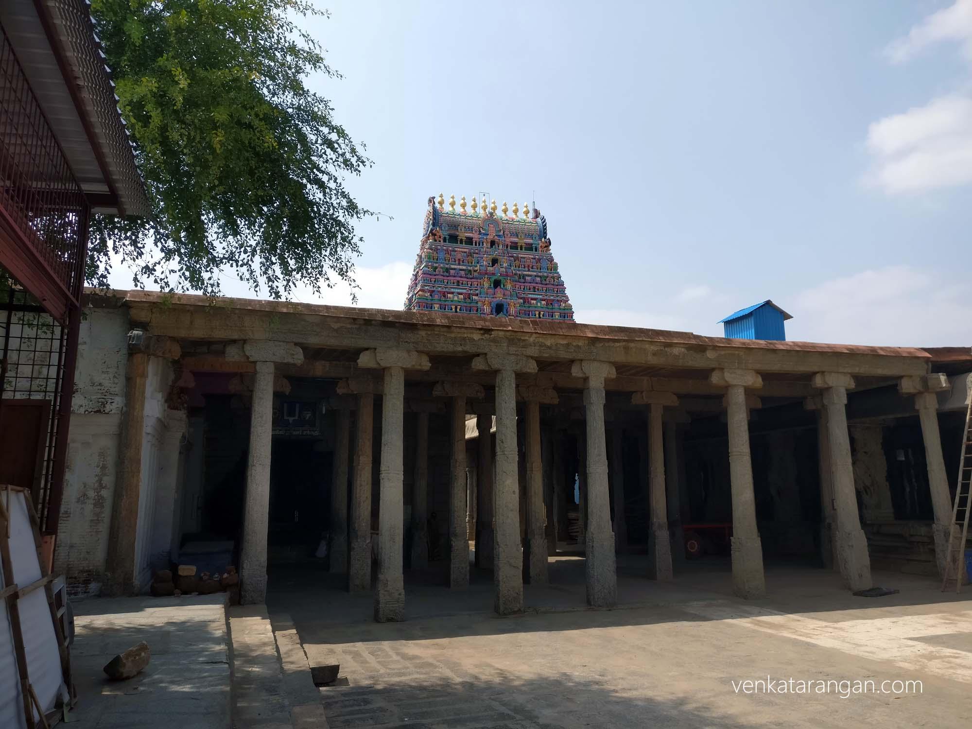Mandap inside the Srimushnam temple