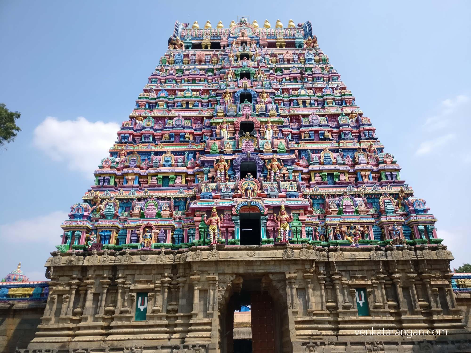 The front gopuram of Srimushnam temple