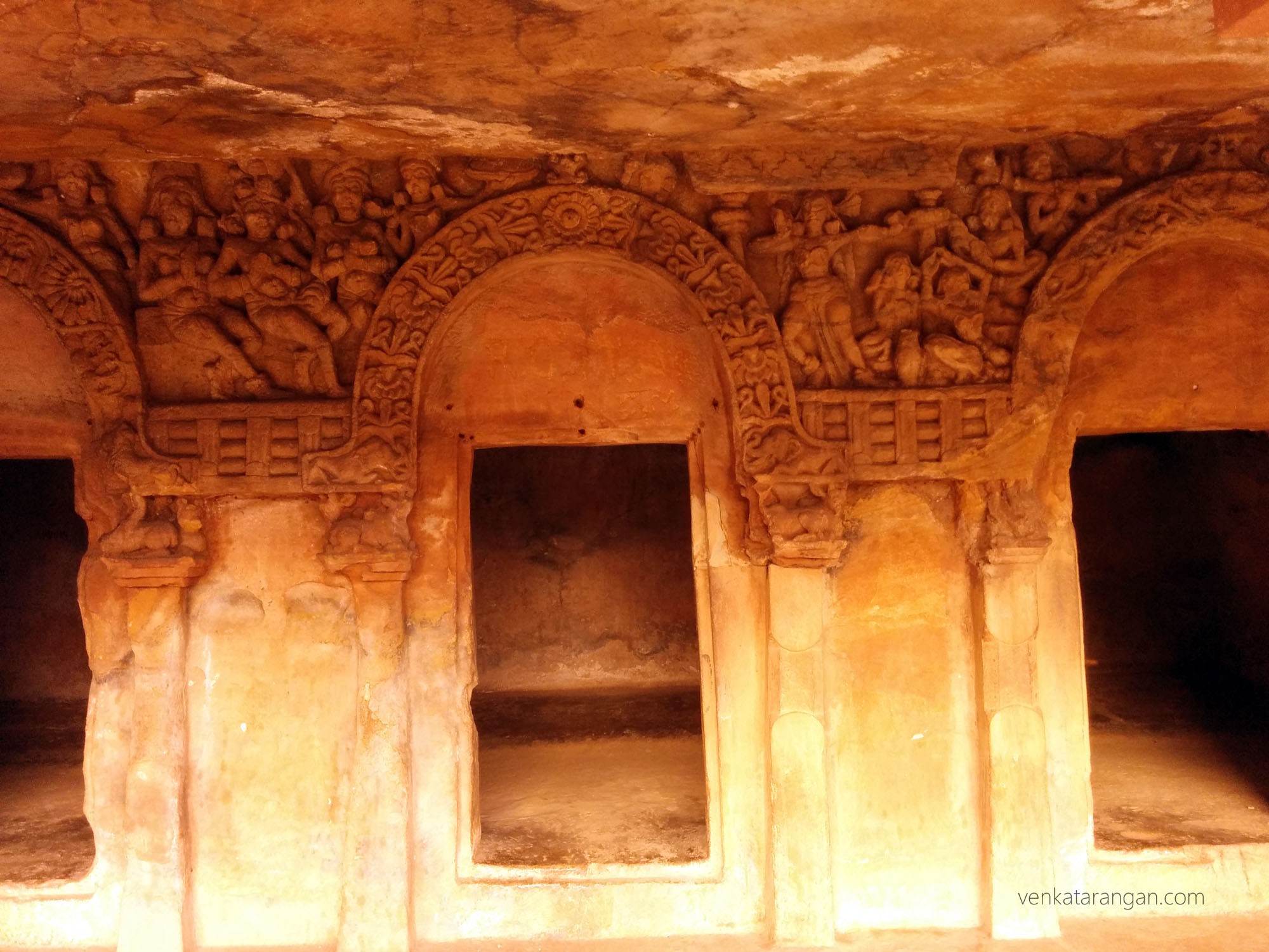 Carvings in Udayagiri and Khandagiri Caves