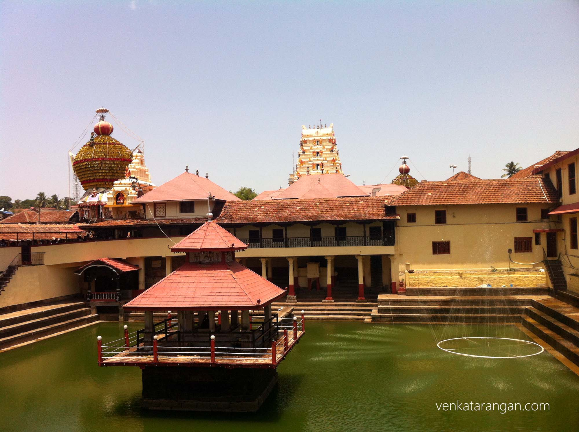 Temple pond at Udupi