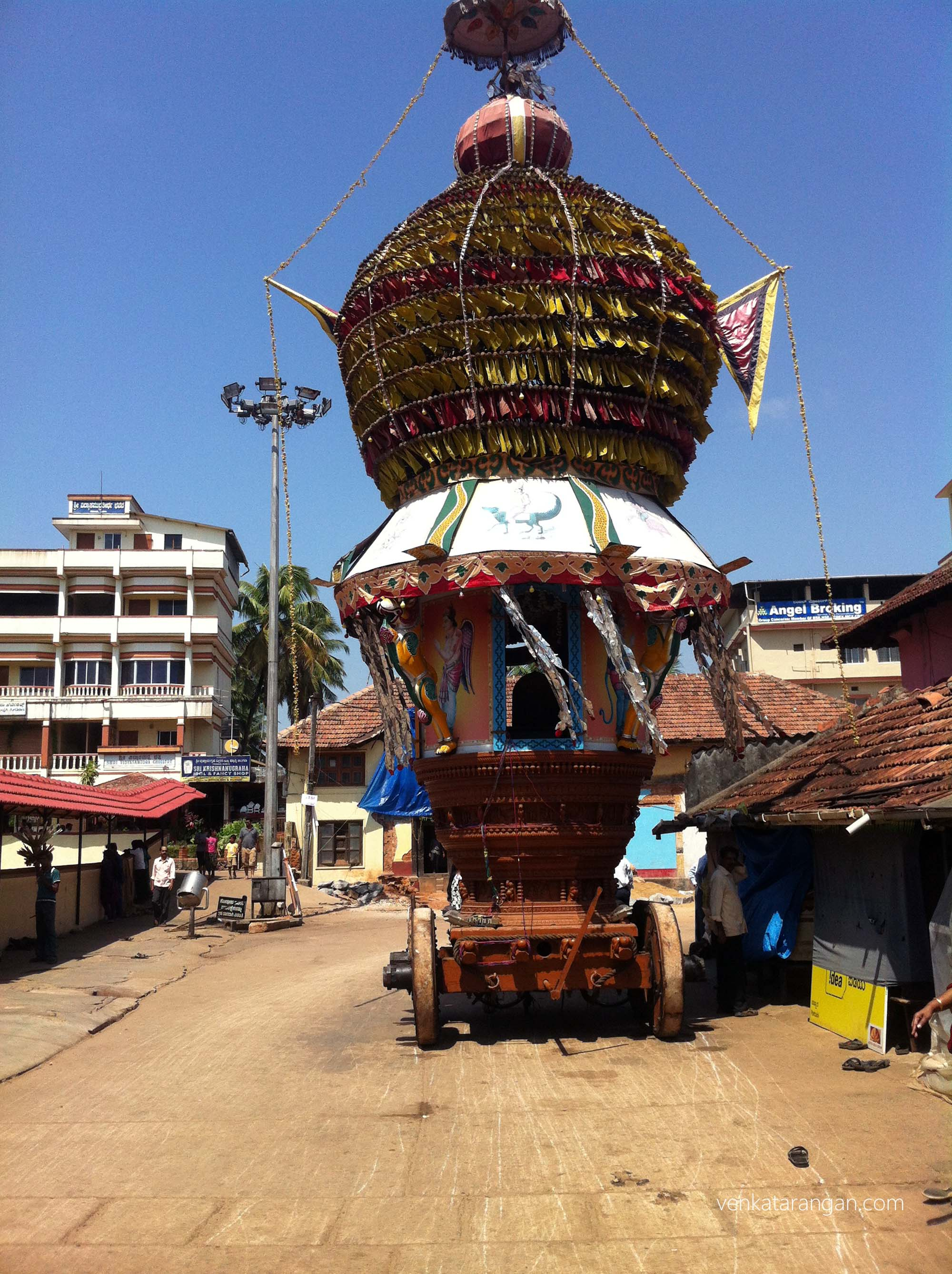Temple chariot - Udupi Sri Krishna temple