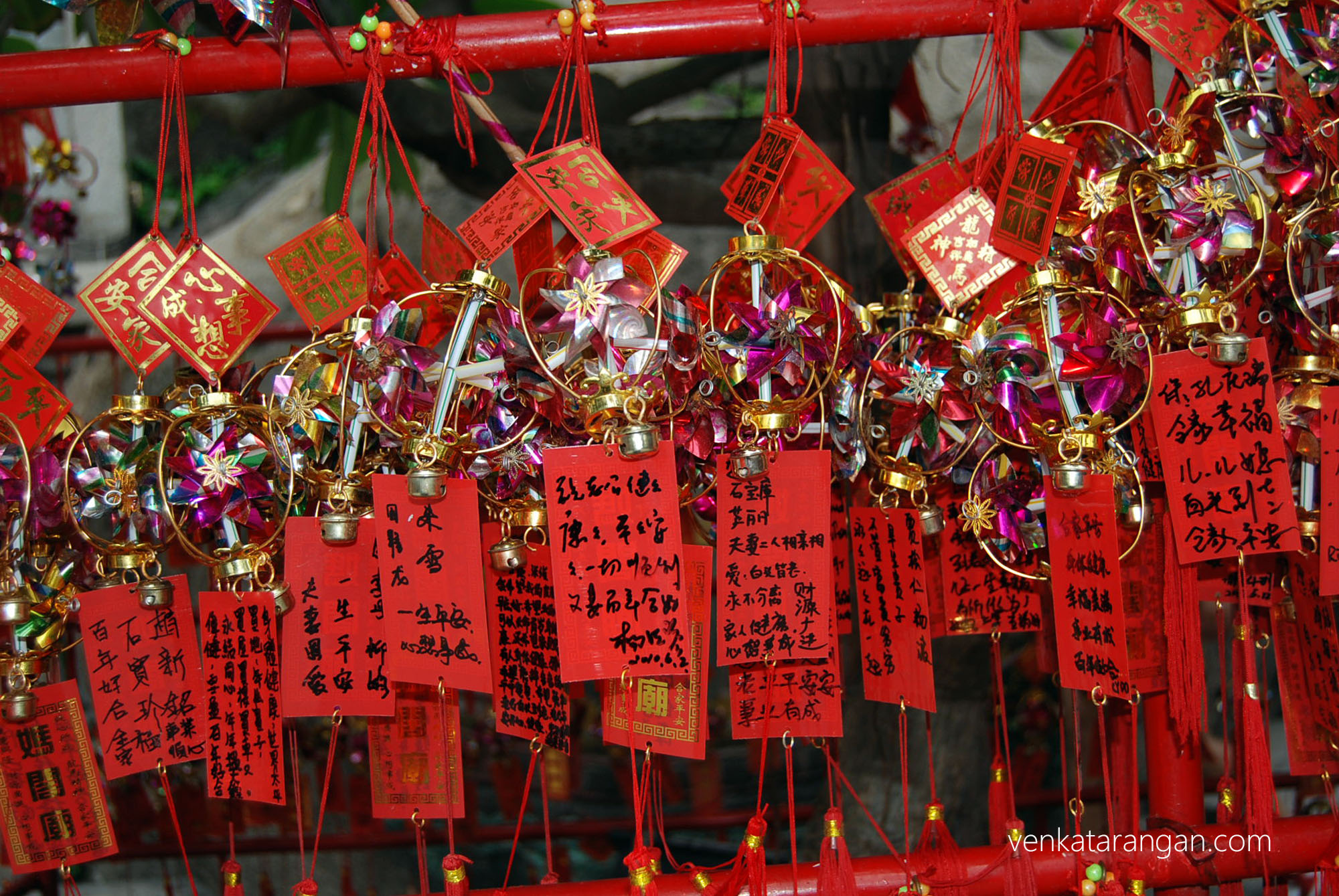 Good luck charms at A-Ma Temple, Macau