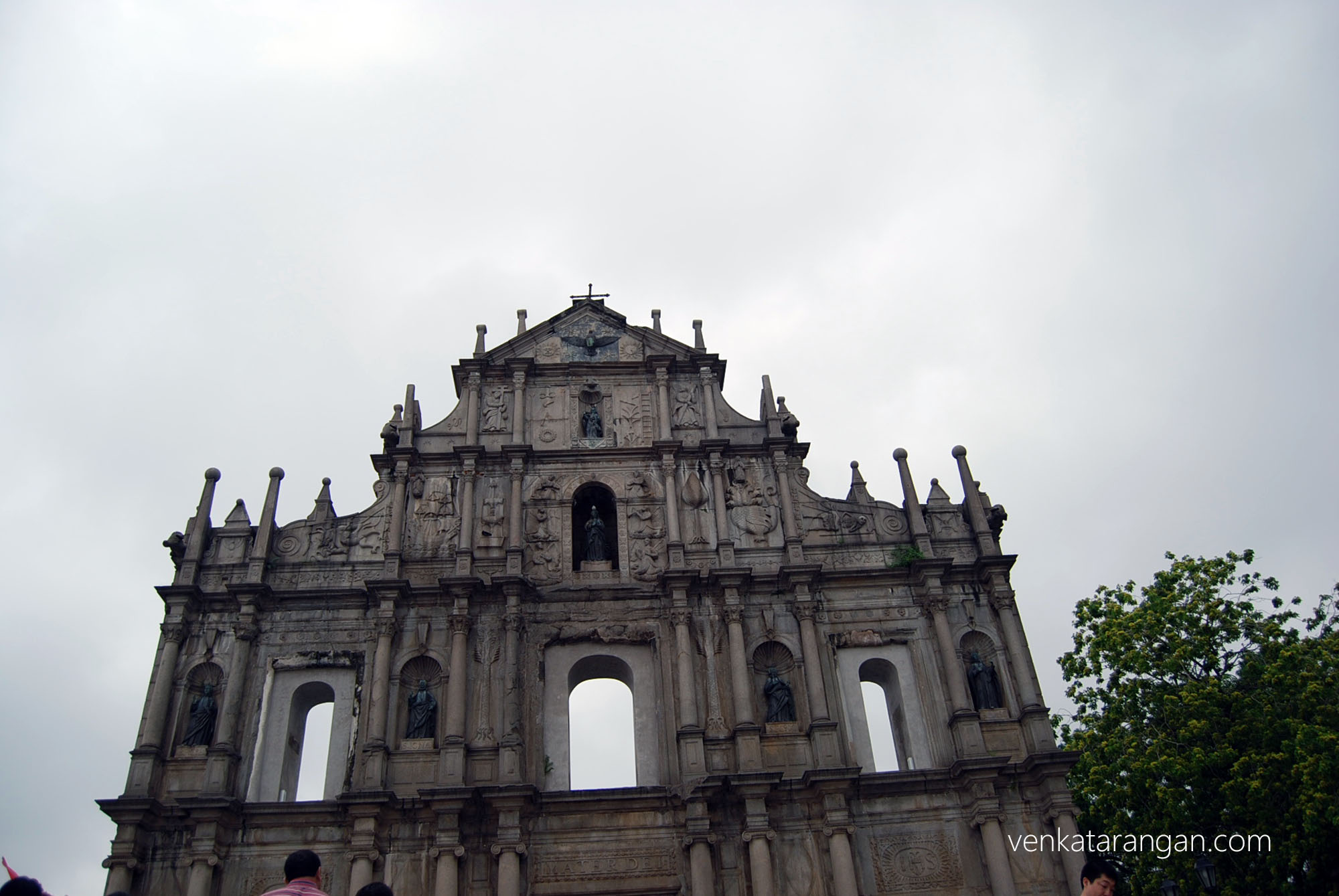 The standing facade of St.Paul Church, Macau